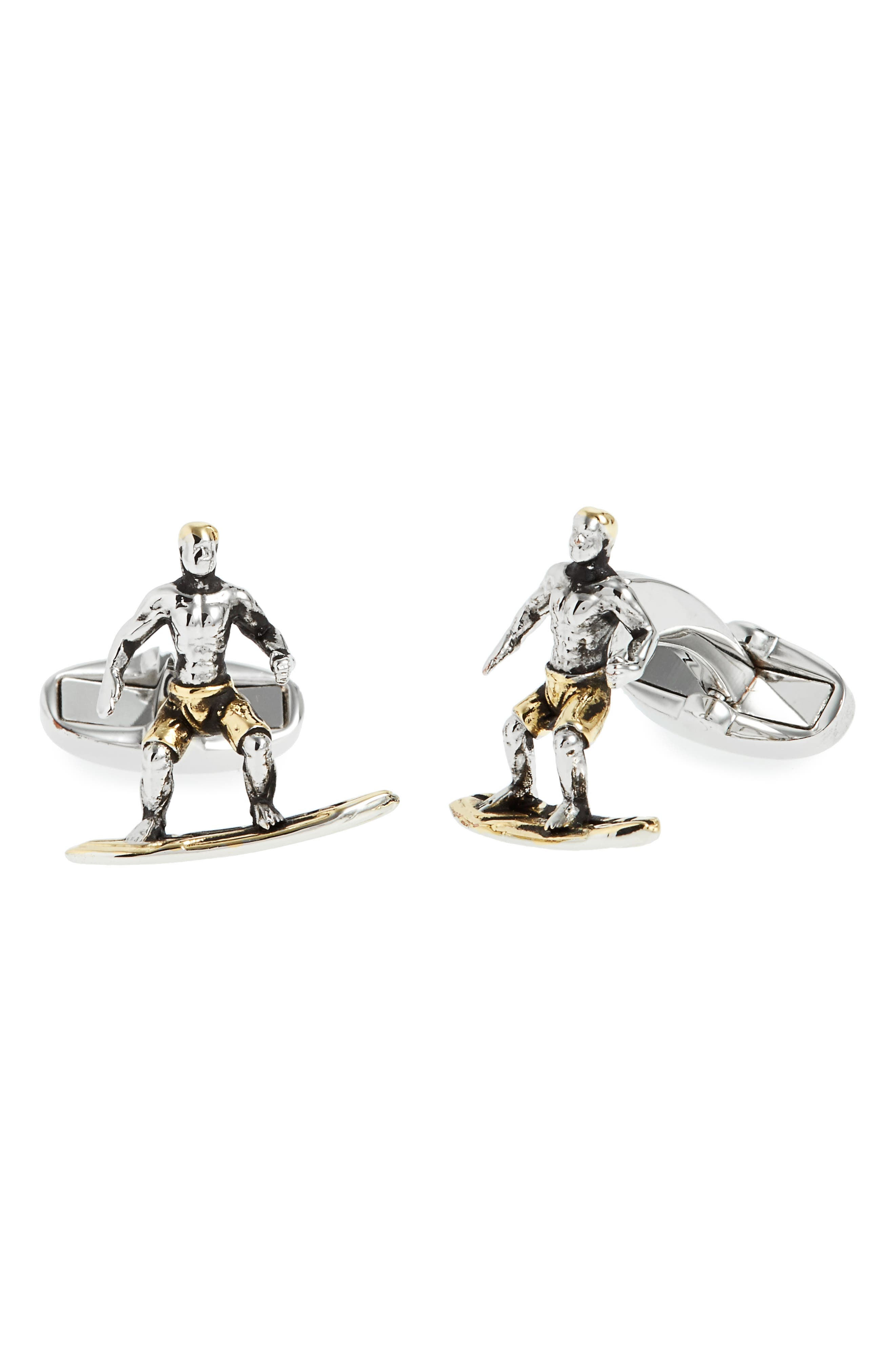 Surfer Cuff Links,                         Main,                         color, Mixed Plating 1