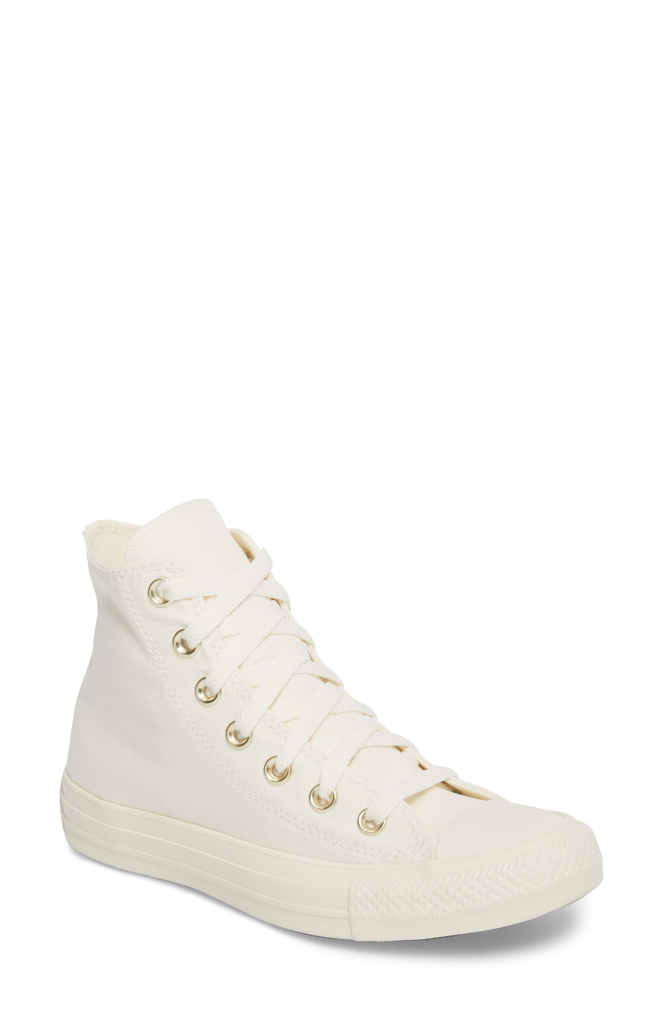 Chuck Taylor<sup>®</sup> All Star<sup>®</sup> Hi Sneaker,                         Main,                         color, Egret