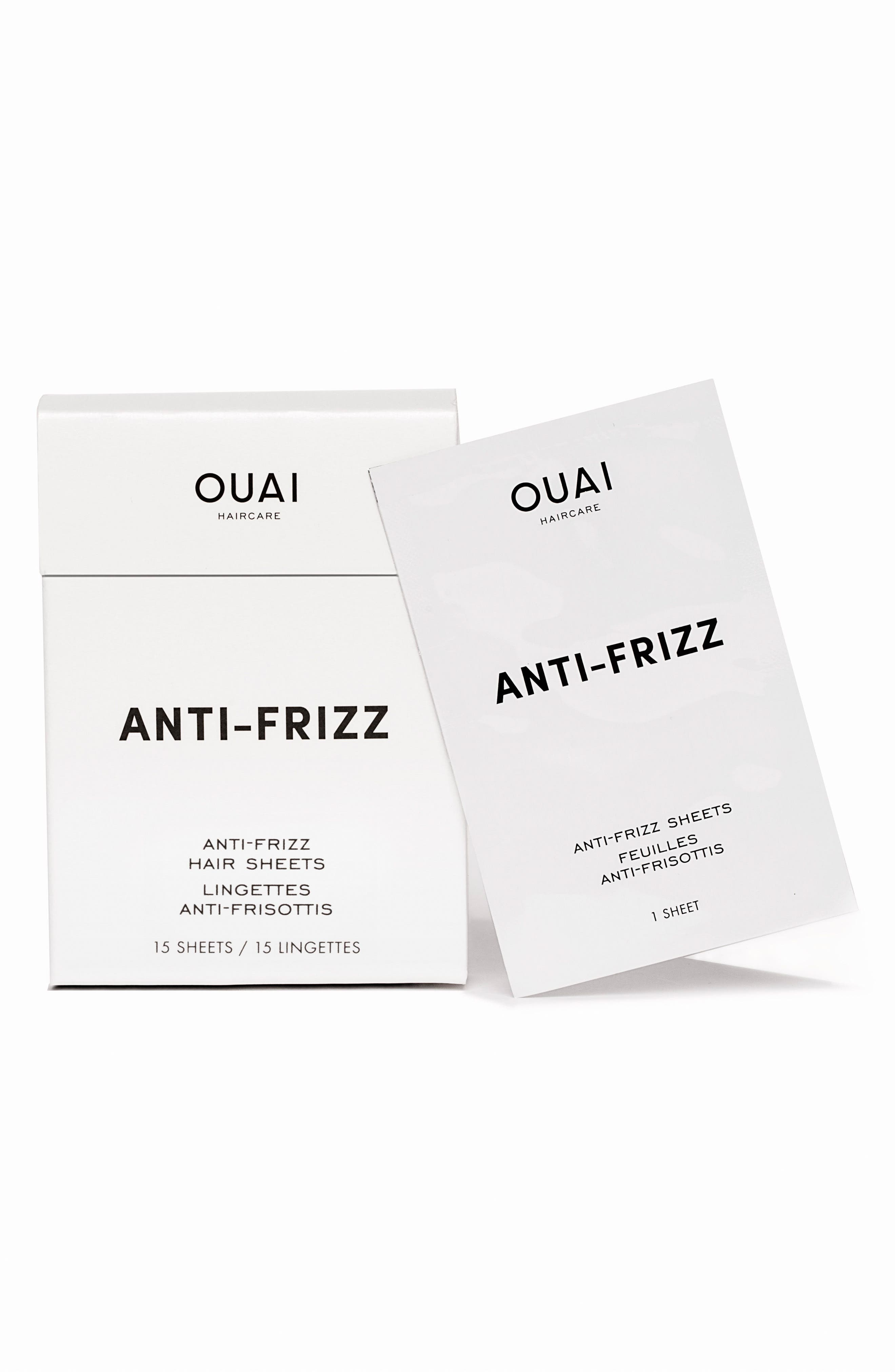 OUAI Anti-Frizz Smoothing Sheets
