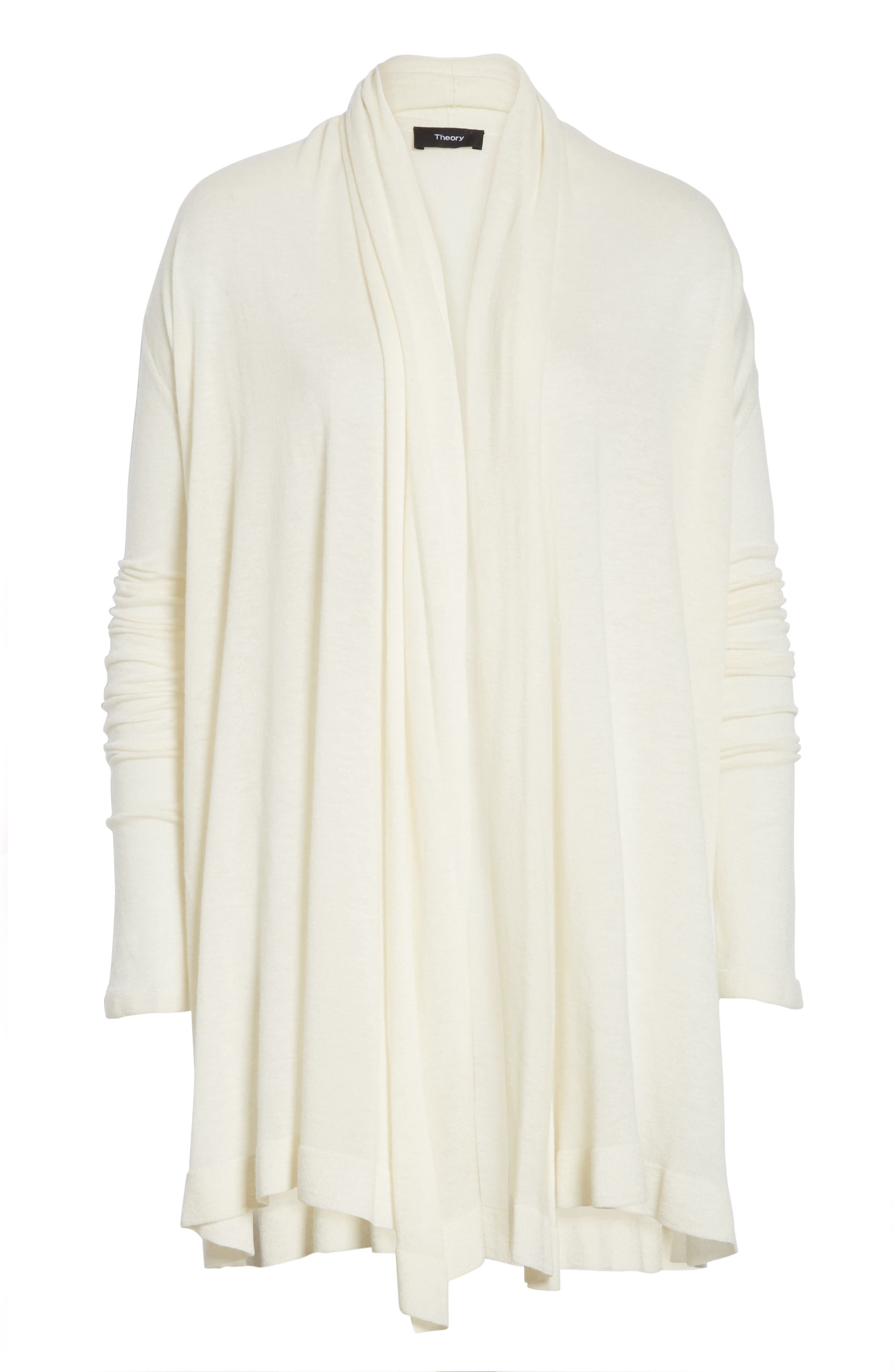 Featherweight Cashmere Cardigan,                             Alternate thumbnail 6, color,                             Ivory