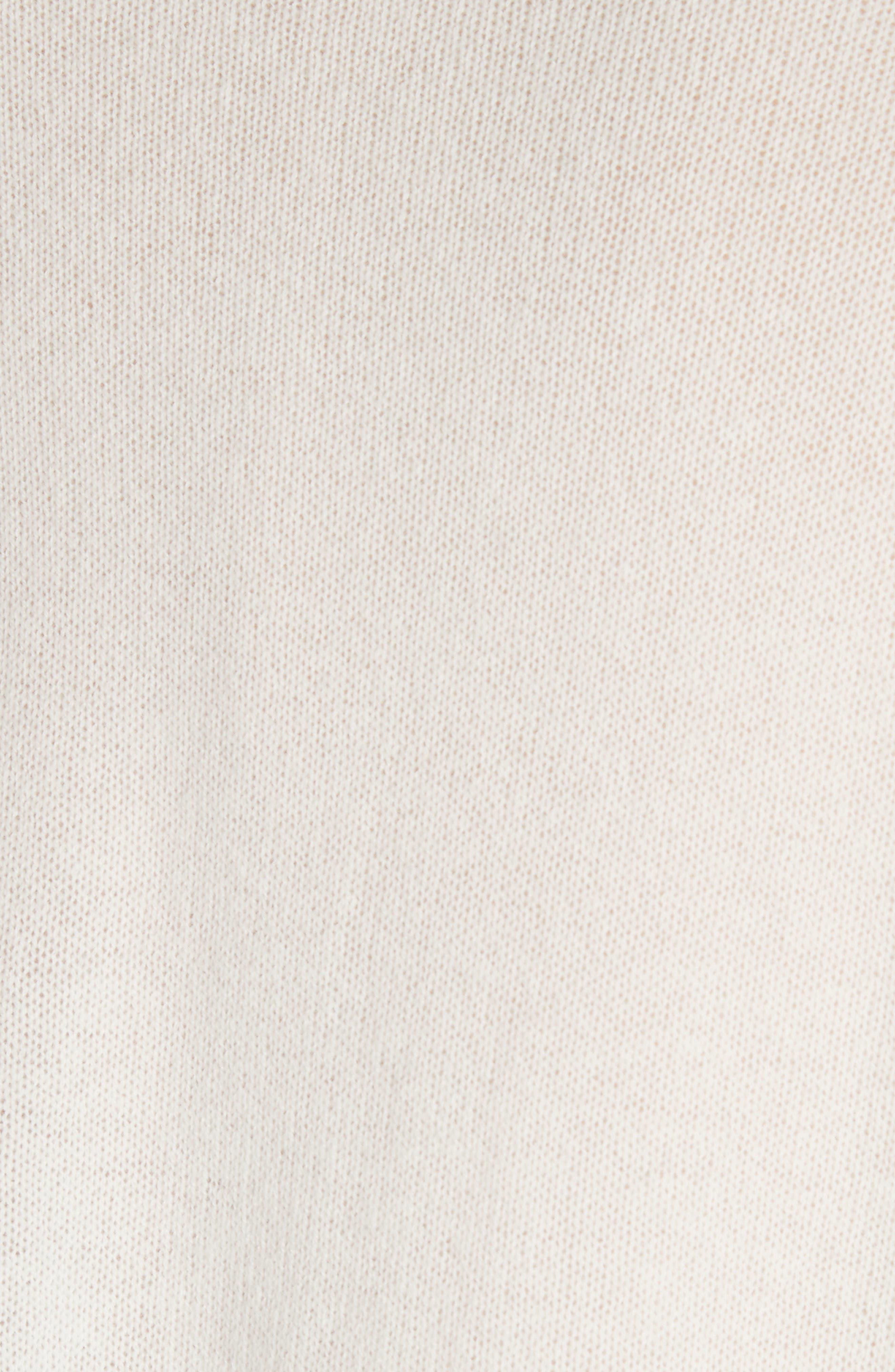 Karenia L Cashmere Sweater,                             Alternate thumbnail 5, color,                             Ivory
