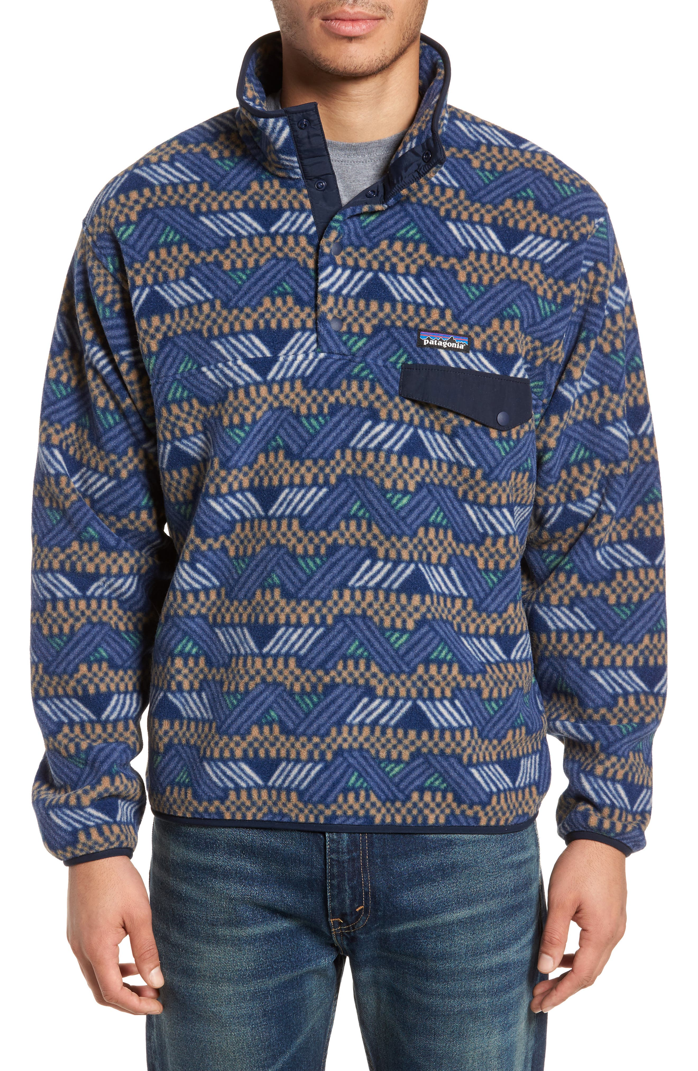 Synchilla<sup>®</sup> Snap-T<sup>®</sup> Fleece Pullover,                         Main,                         color, Classic Navy
