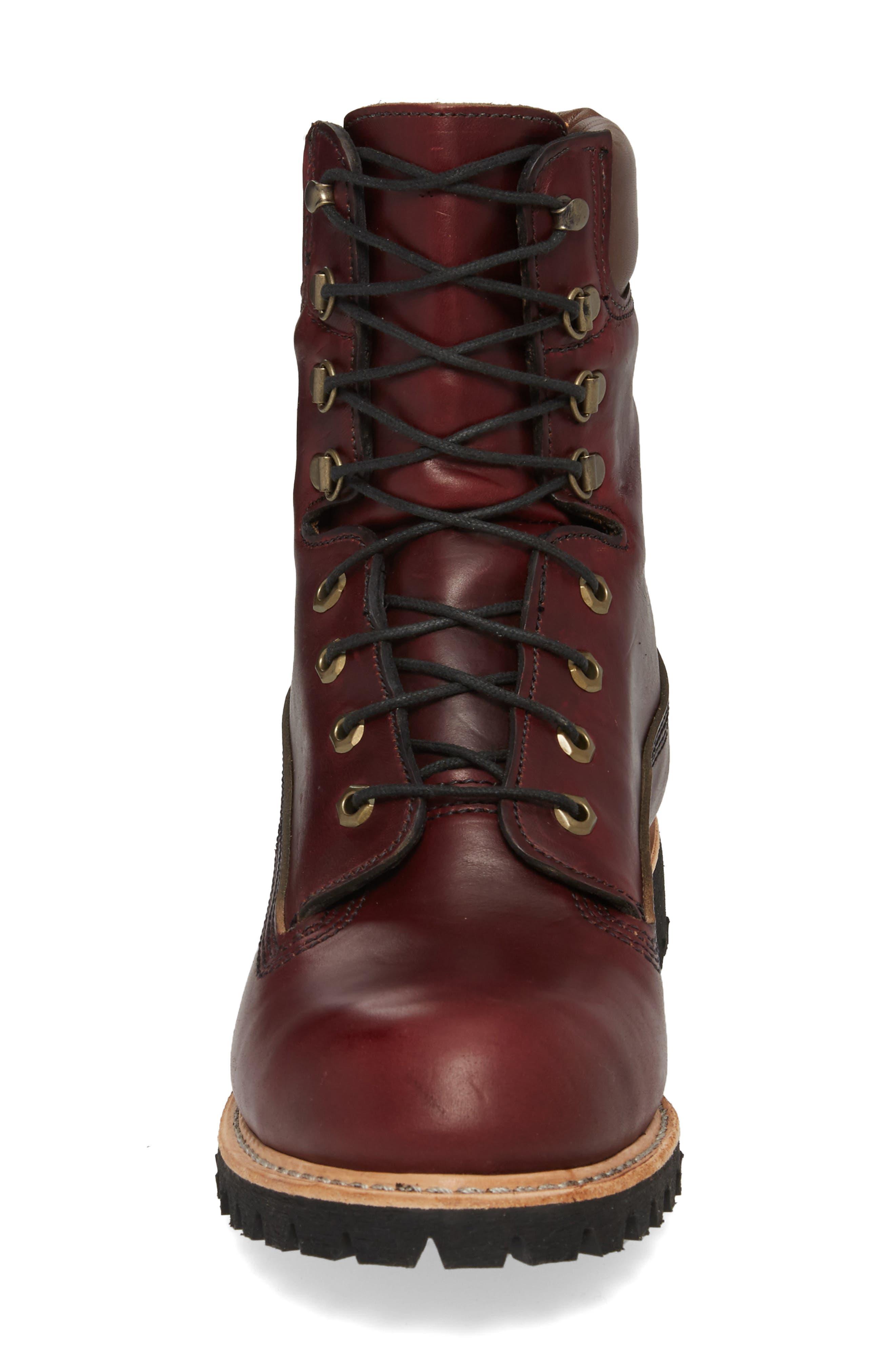Plain Toe Boot,                             Alternate thumbnail 4, color,                             Burgundy Chromexel Horween
