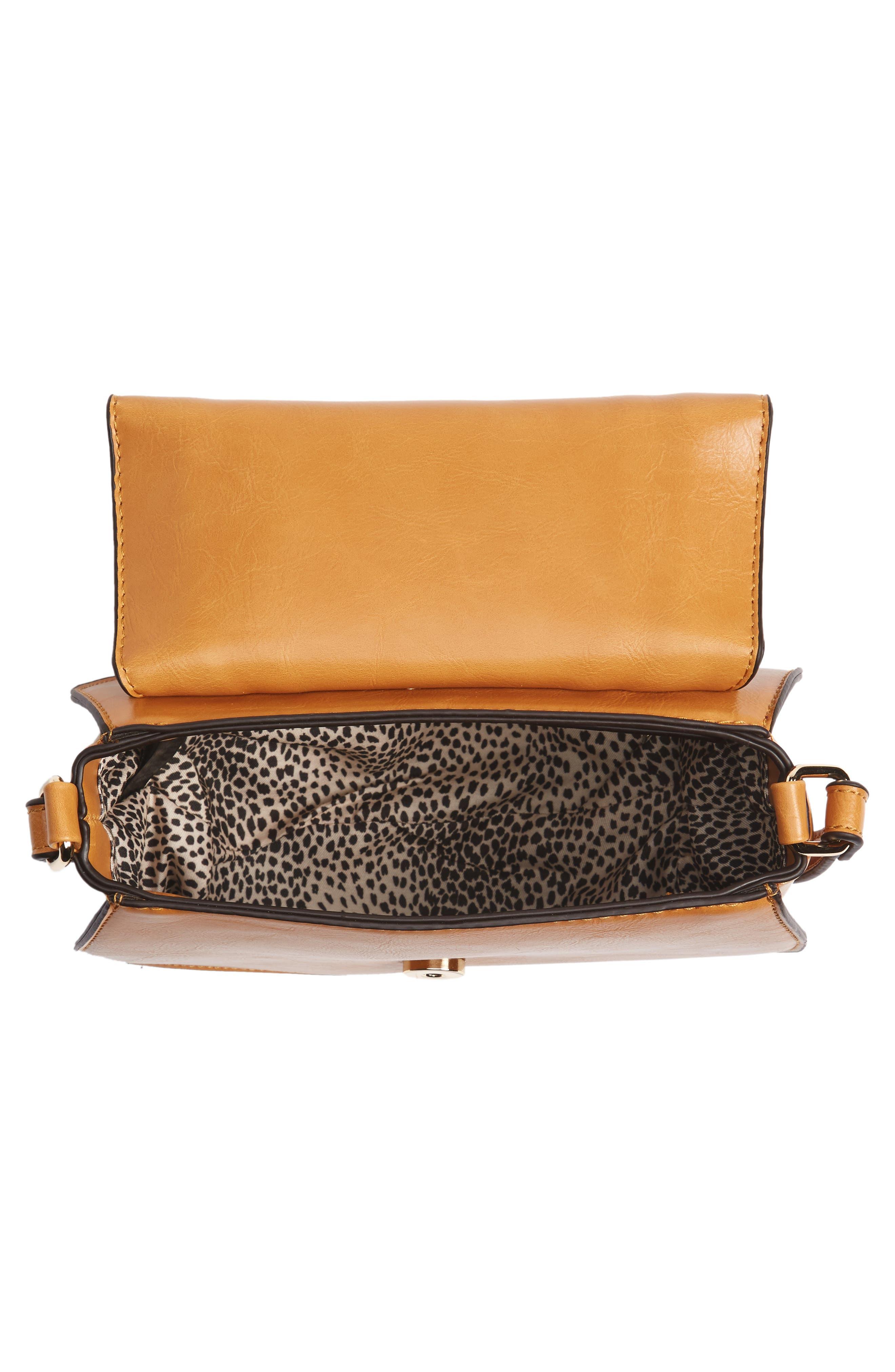 Alternate Image 4  - Sole Society Bryson Faux Leather Crossbody Bag