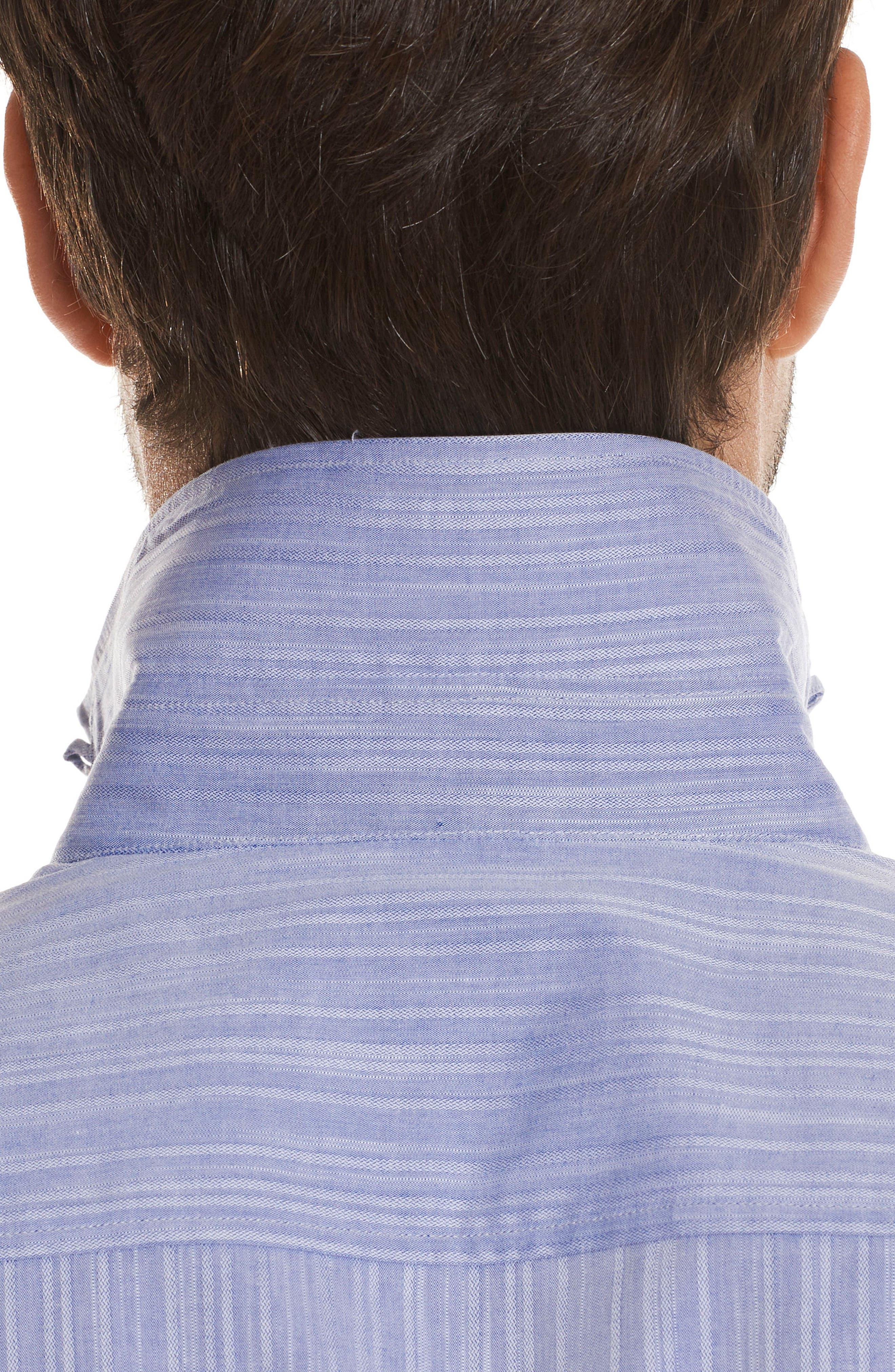 Livingston Regular Fit Short Sleeve Sport Shirt,                             Alternate thumbnail 2, color,                             Blue