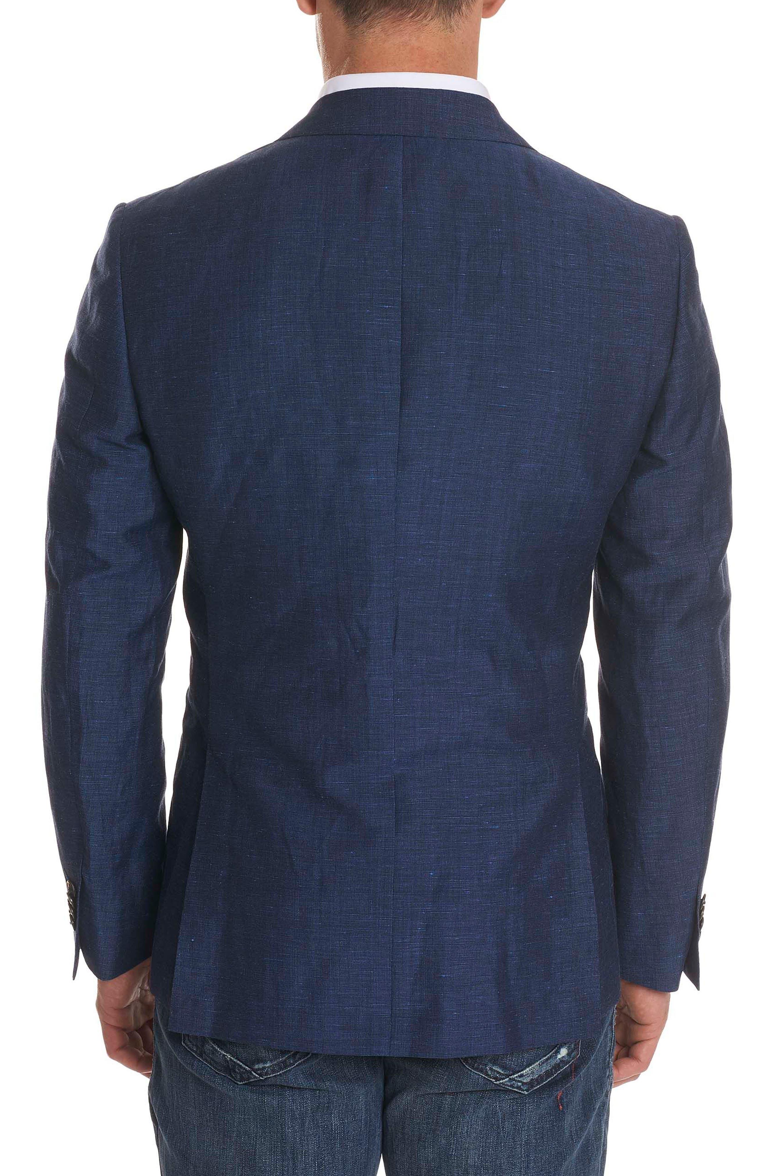 Alternate Image 2  - Robert Graham Vidin Tailored Fit Linen & Wool Sportcoat