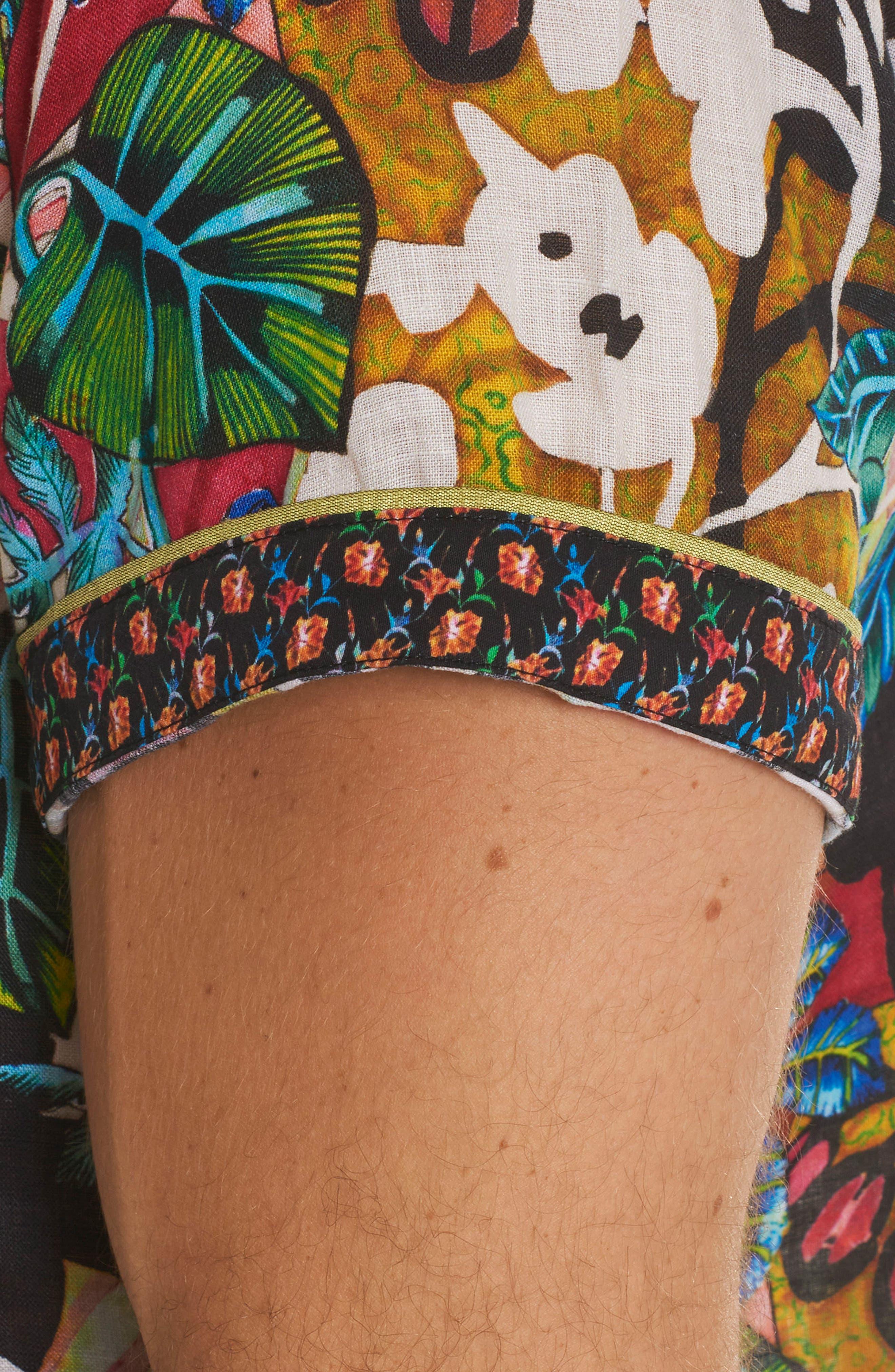 Havana Linen Sport Shirt,                             Alternate thumbnail 3, color,                             Multi