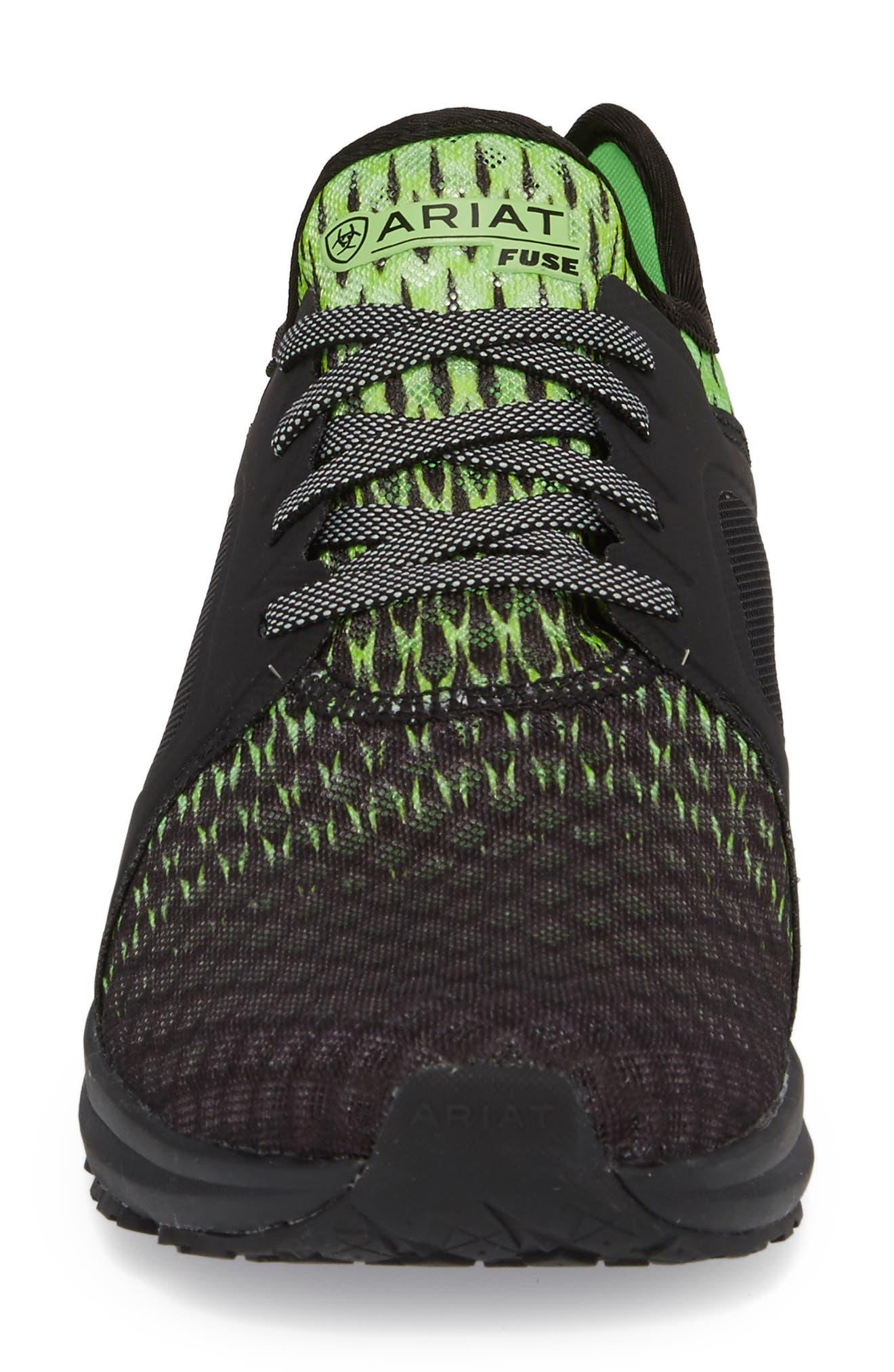 Fuse Ombré Sneaker,                             Alternate thumbnail 4, color,                             Black Ombre