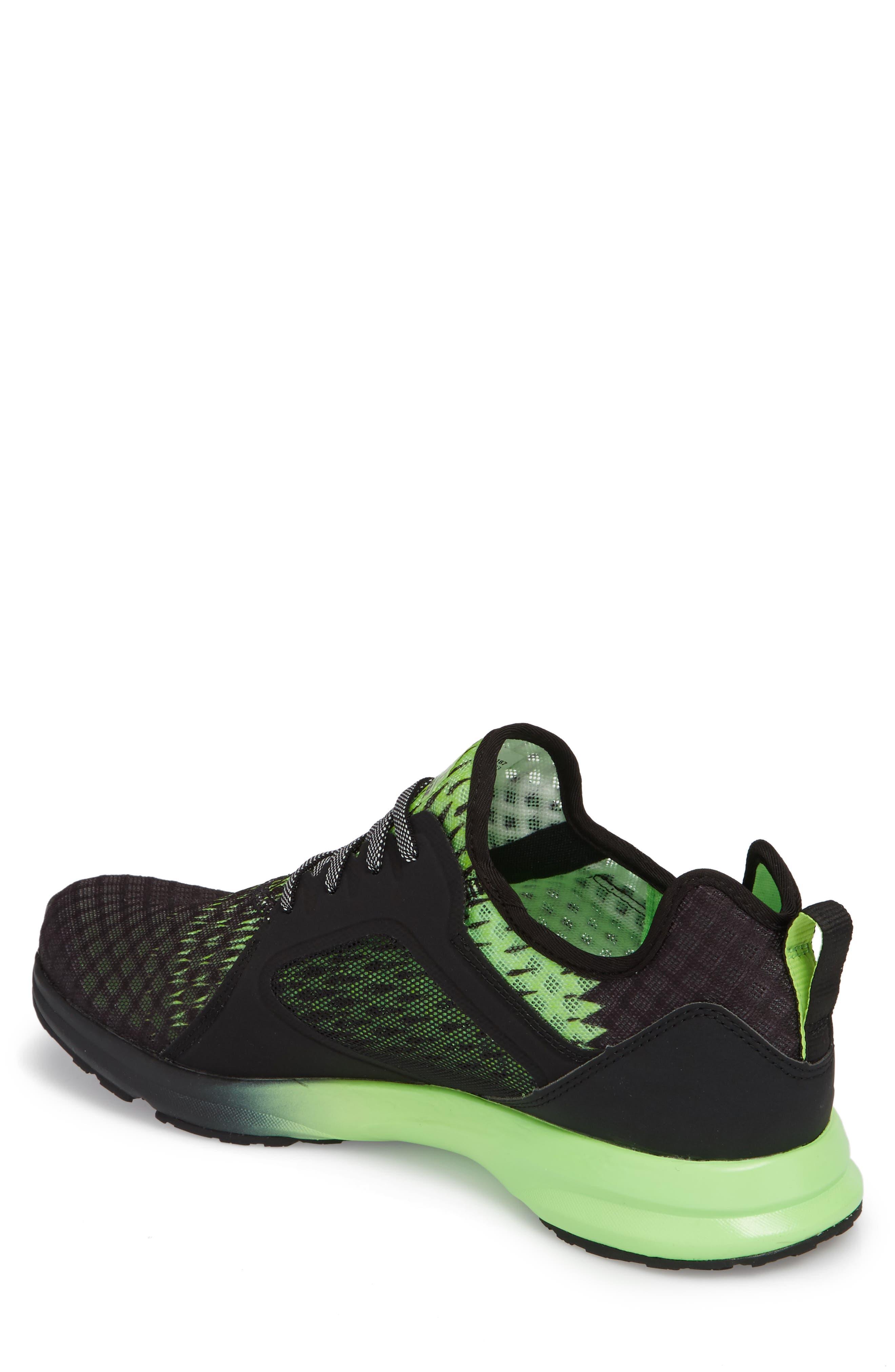 Fuse Ombré Sneaker,                             Alternate thumbnail 2, color,                             Black Ombre