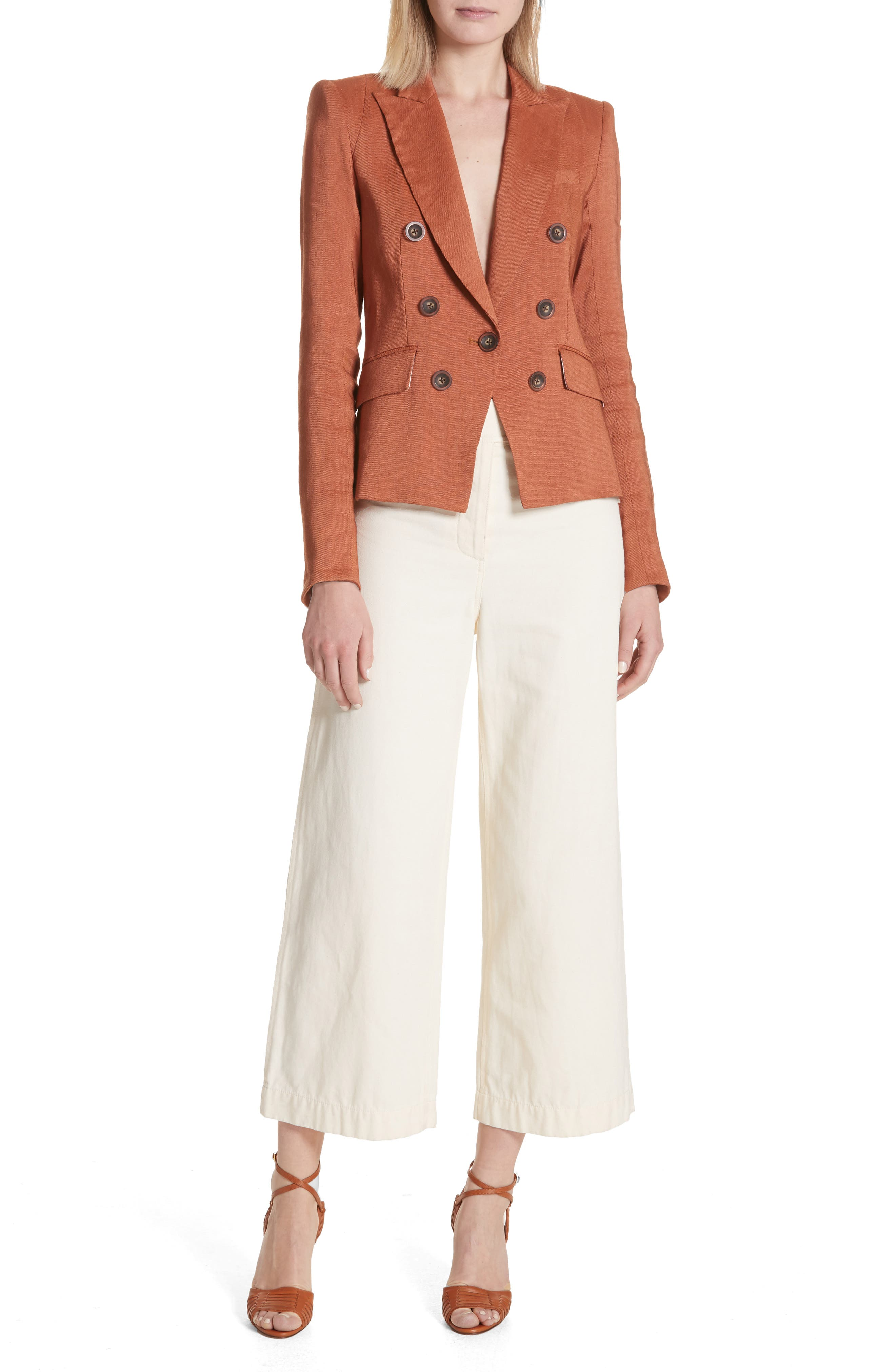 Caymen Cotton Gaucho Pants,                             Alternate thumbnail 8, color,                             Natural