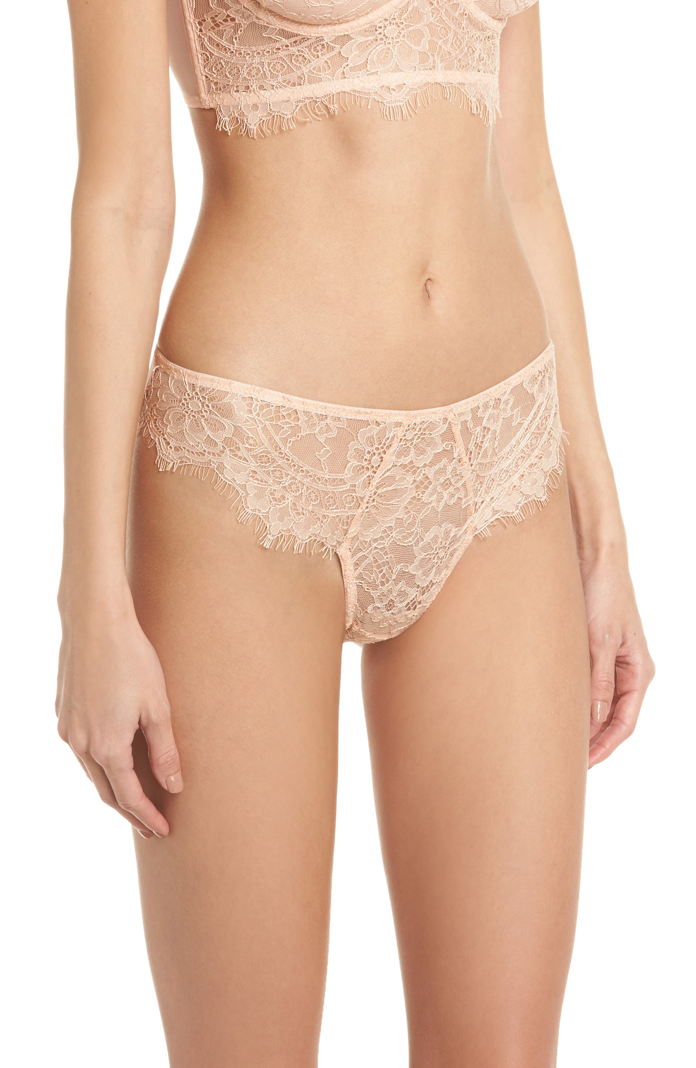 Thistle & Spire Graham Lace Bikini,                             Alternate thumbnail 3, color,                             Blush