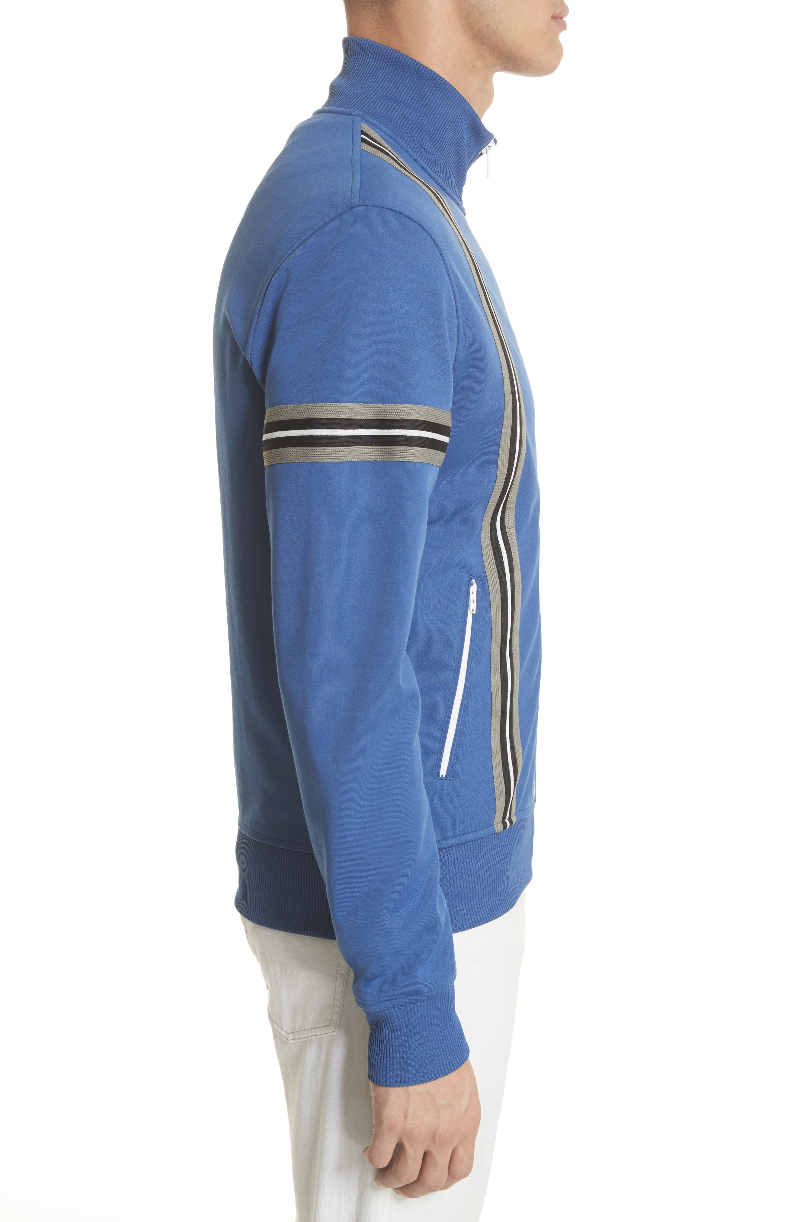 Helmsdale Track Jacket,                             Alternate thumbnail 3, color,                             Deep Electric Blue