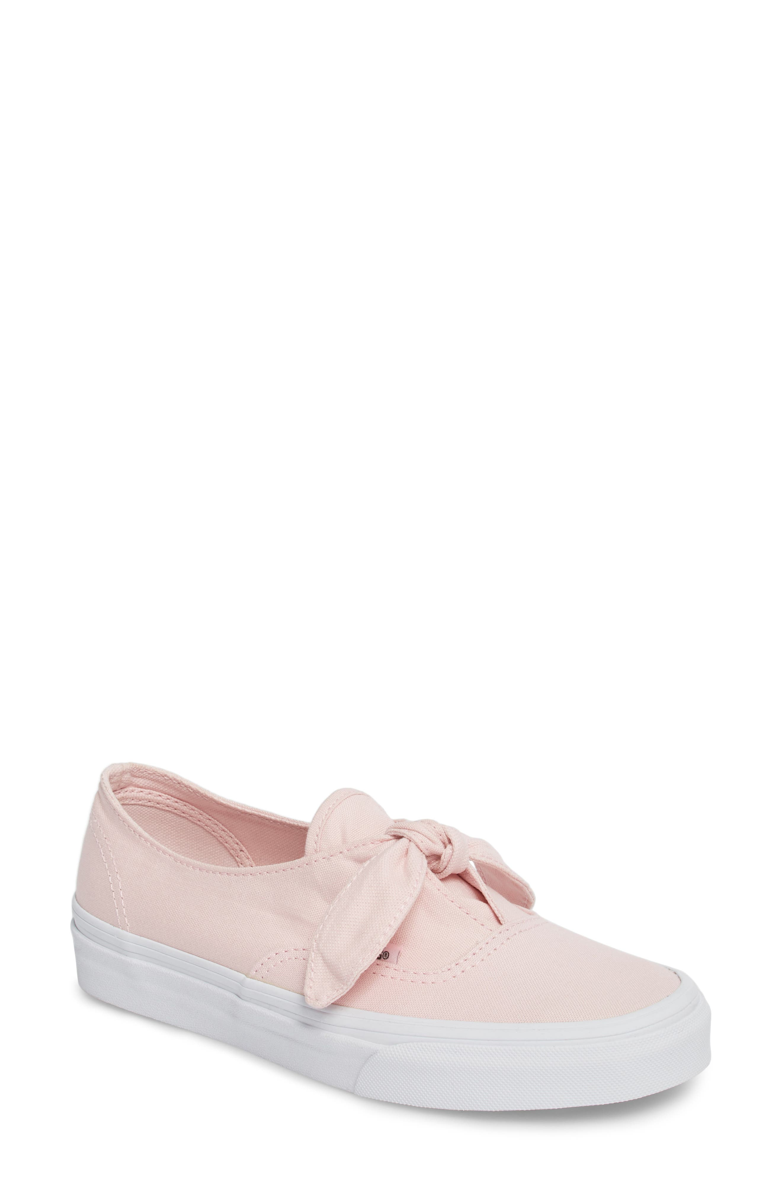 UA Authentic Knotted Slip-On Sneaker,                             Main thumbnail 1, color,                             Chalk Pink/ True White