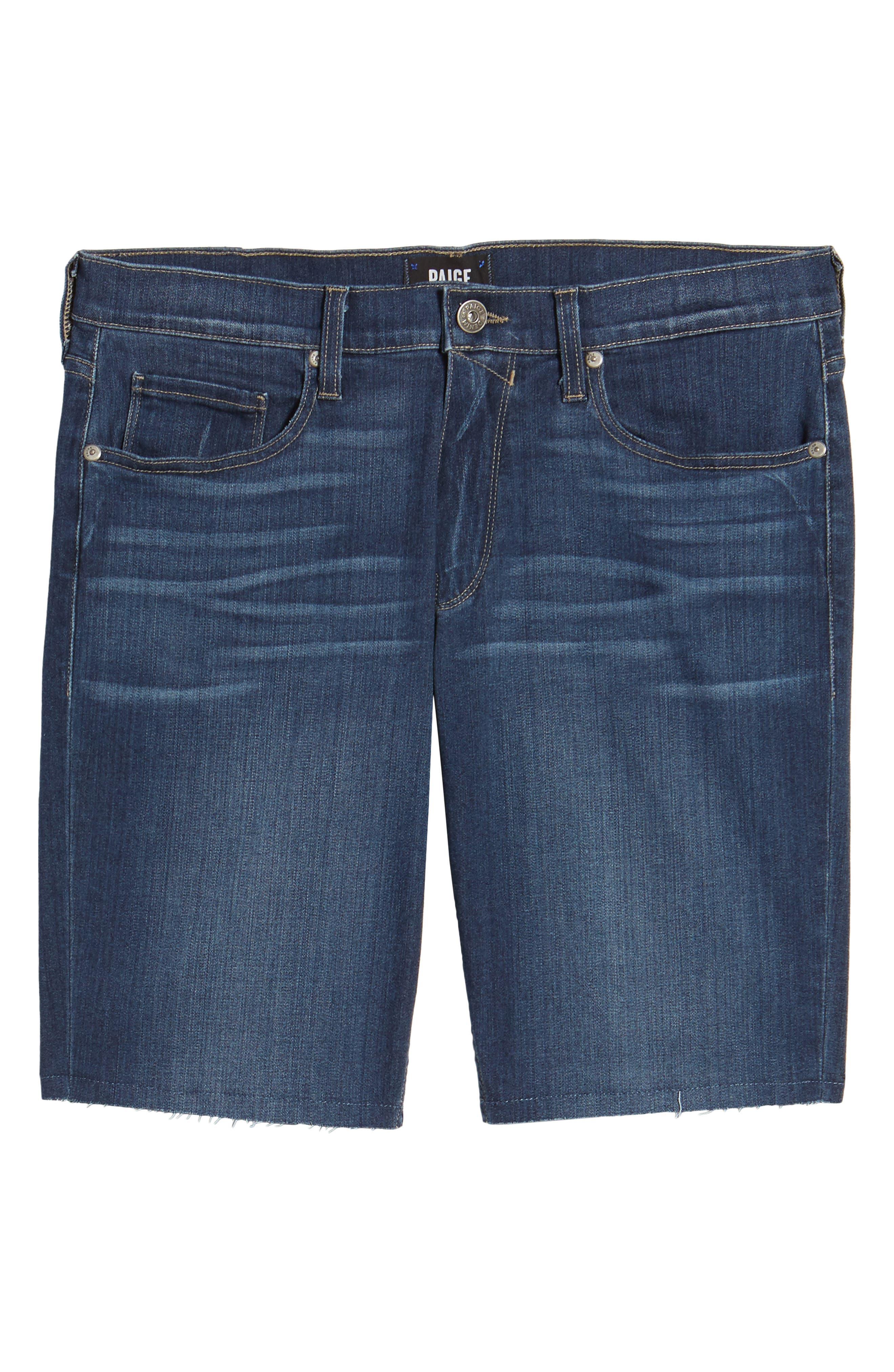 Transcend - Federal Slim Straight Leg Denim Shorts,                             Alternate thumbnail 5, color,                             Leo