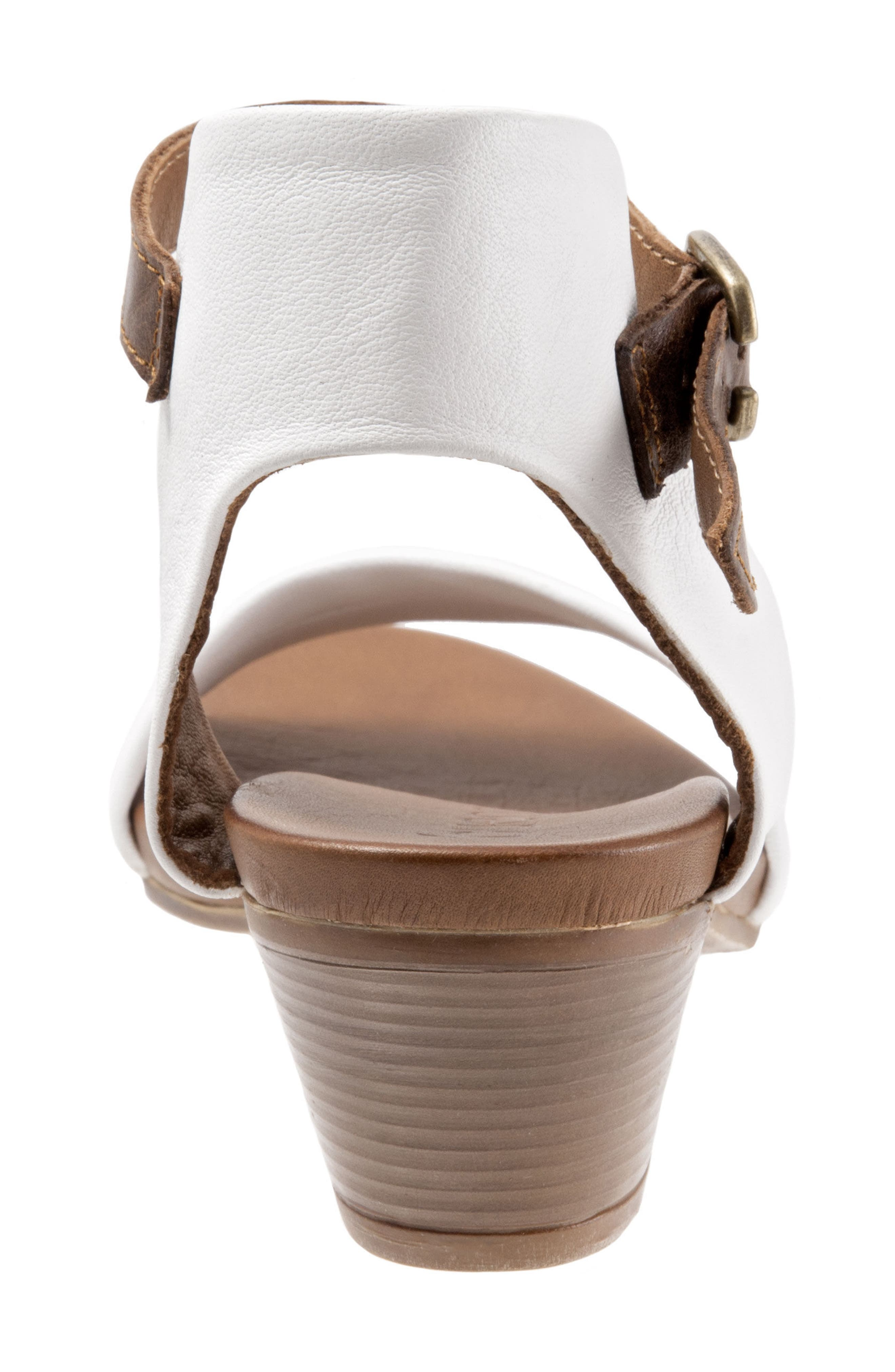 Sue Sandal,                             Alternate thumbnail 6, color,                             White Leather