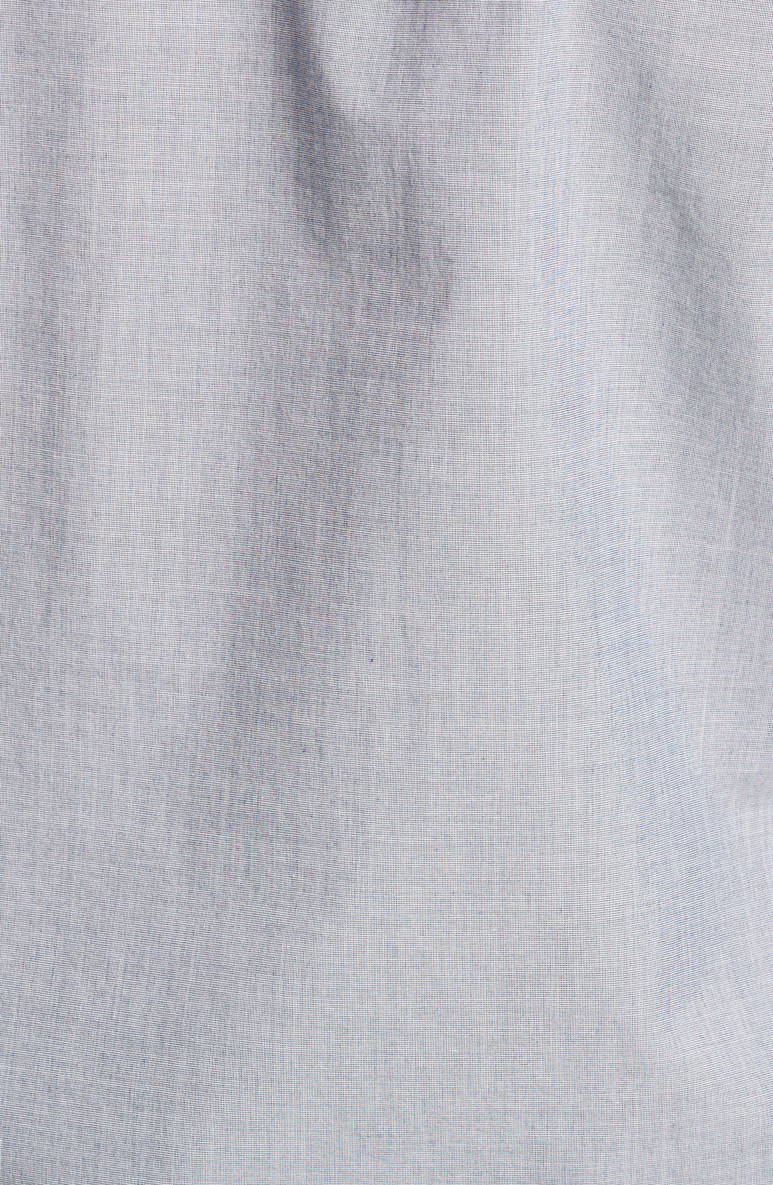 Summerweight Slim Fit Sport Shirt,                             Alternate thumbnail 5, color,                             End On End Solid - Blue Depths