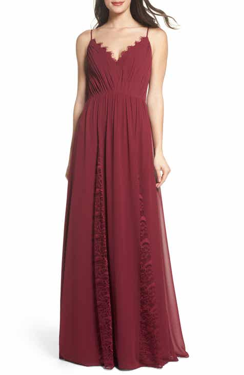 Hayley Paige Occasions Lace Chiffon Gown