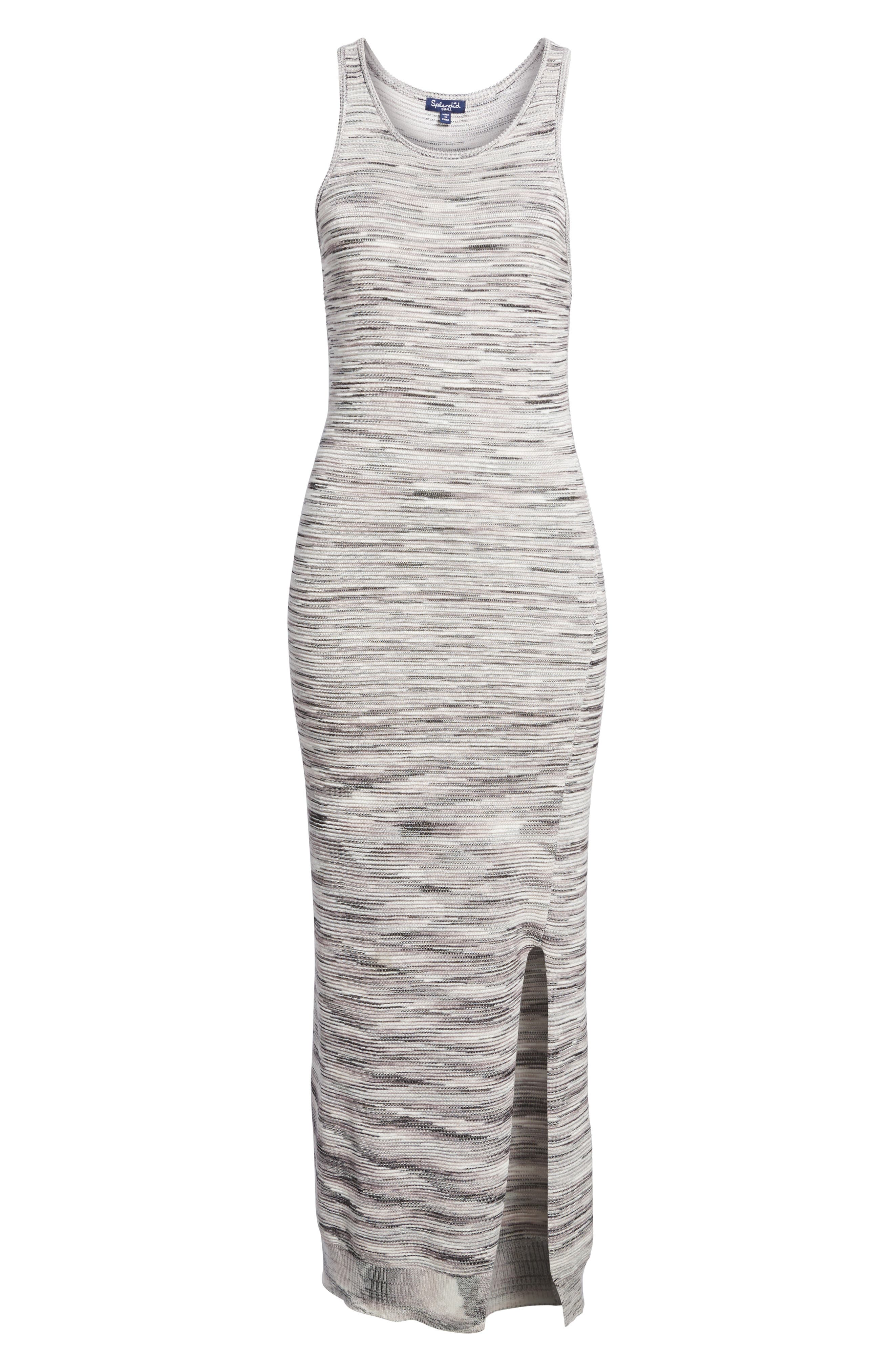 Space Dye Knit Maxi Dress,                             Alternate thumbnail 7, color,                             Natural Multi