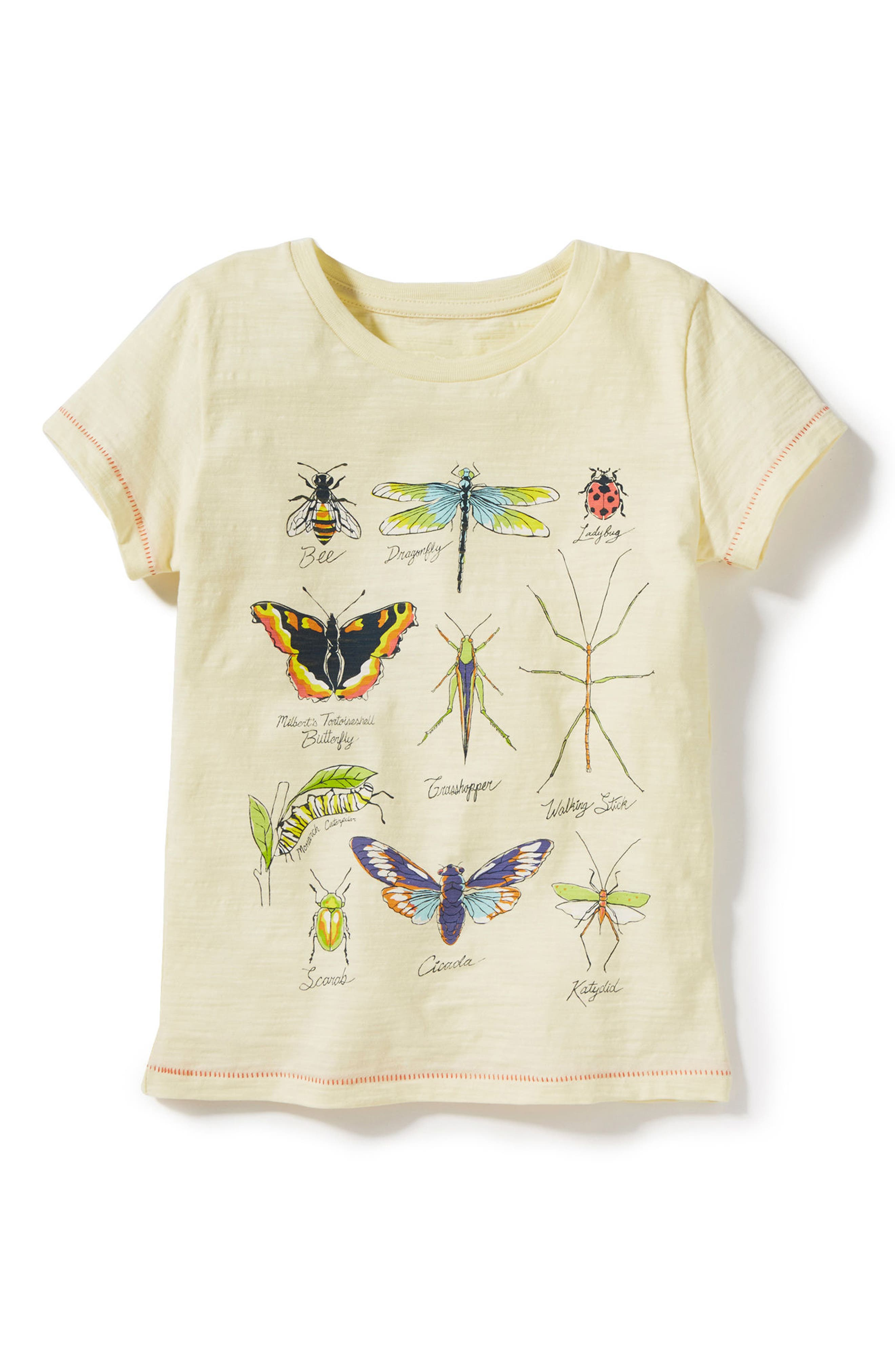 Peek Bug Diagram Graphic Tee (Little Girls & Big Girls)