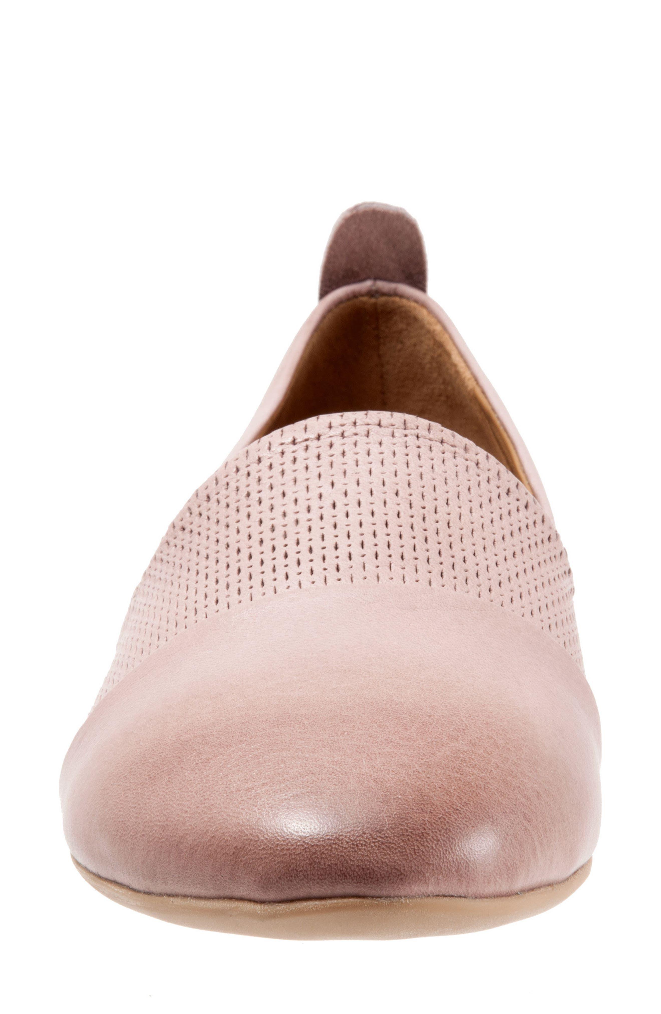 Katy Flat,                             Alternate thumbnail 4, color,                             Dusty Mauve Leather