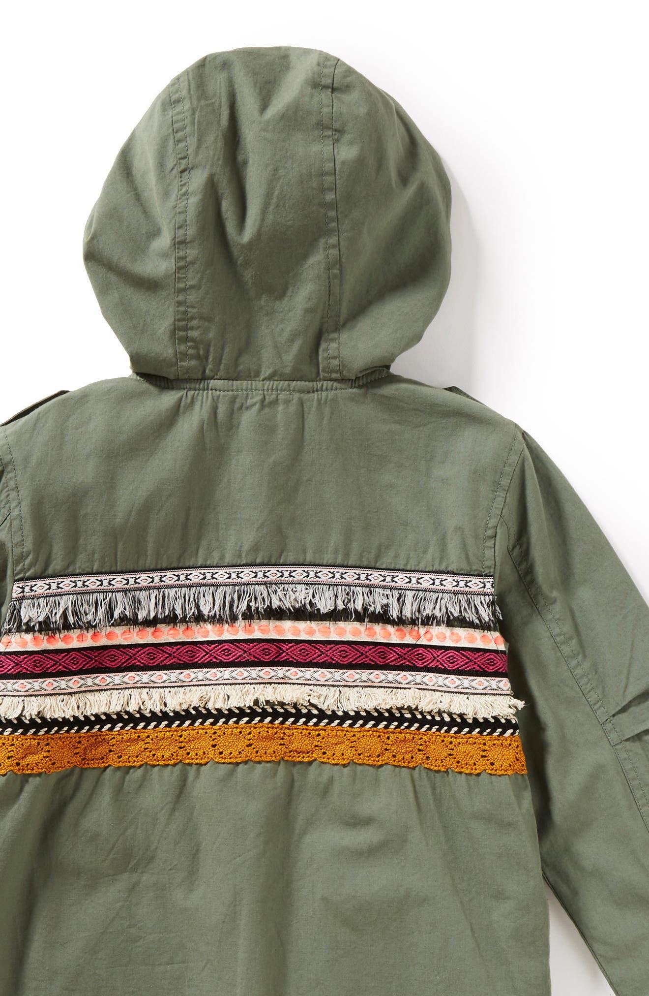 Roadtrip Hooded Jacket,                             Alternate thumbnail 2, color,                             Olive