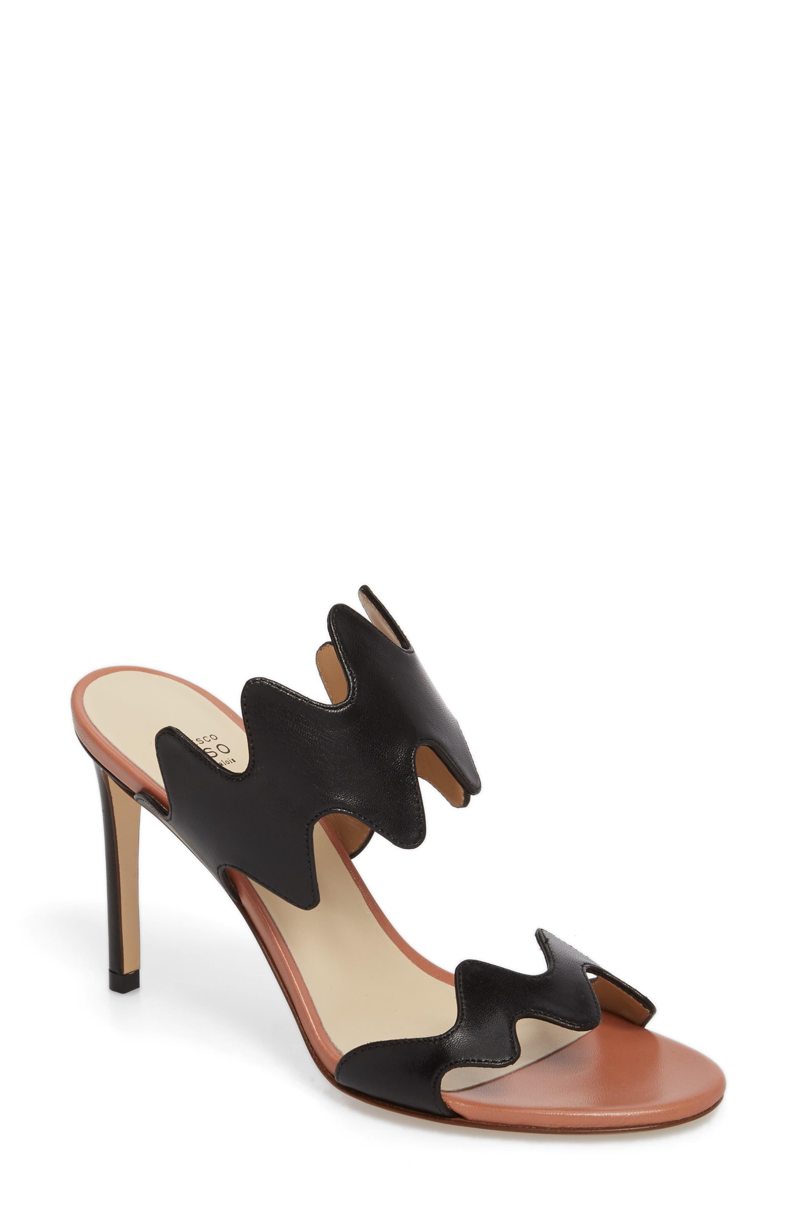 Alternate Image 1 Selected - Francesco Russo Zigzag Sandal (Women)