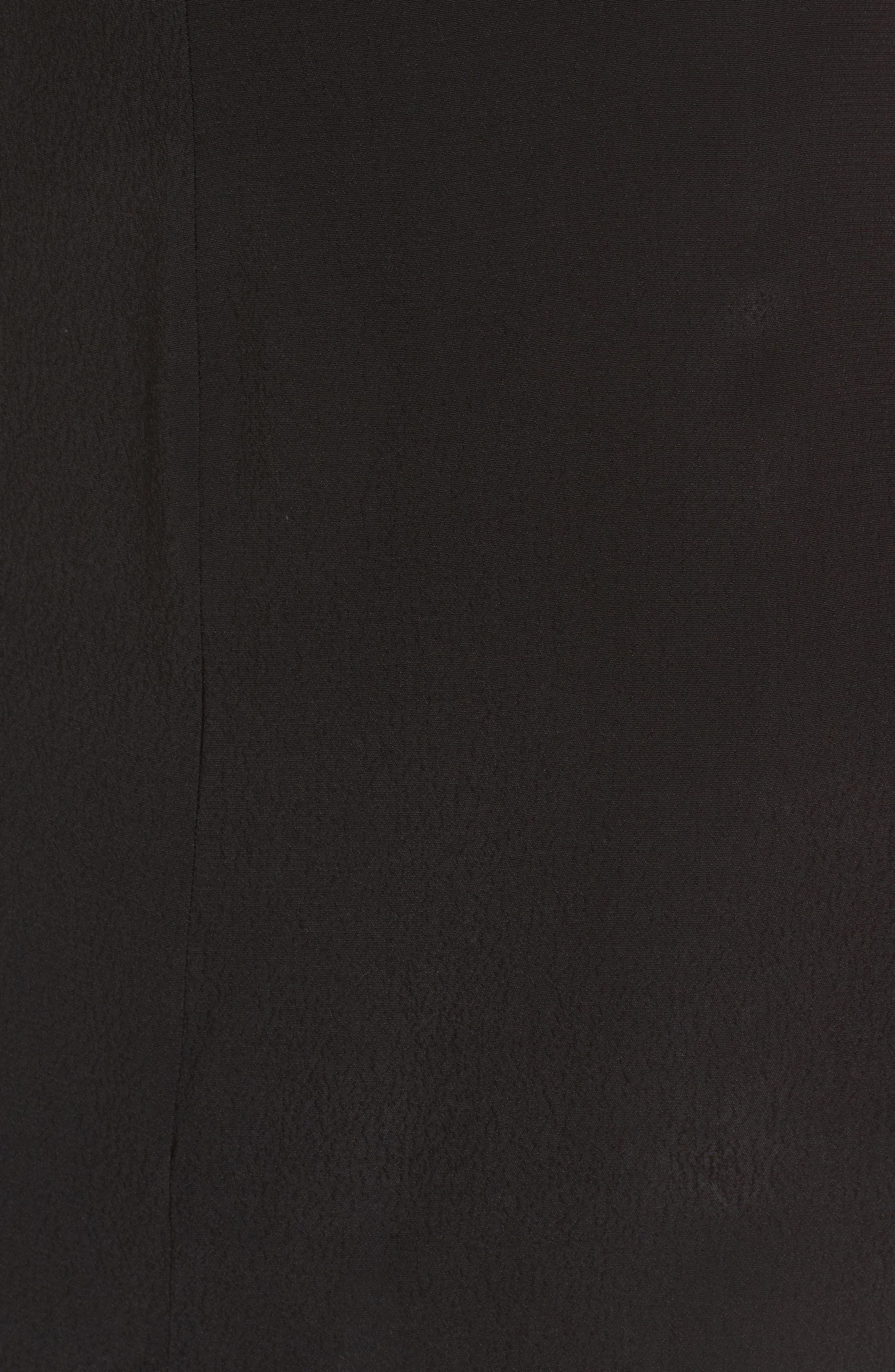 Backless Sheath Dress,                             Alternate thumbnail 5, color,                             Black