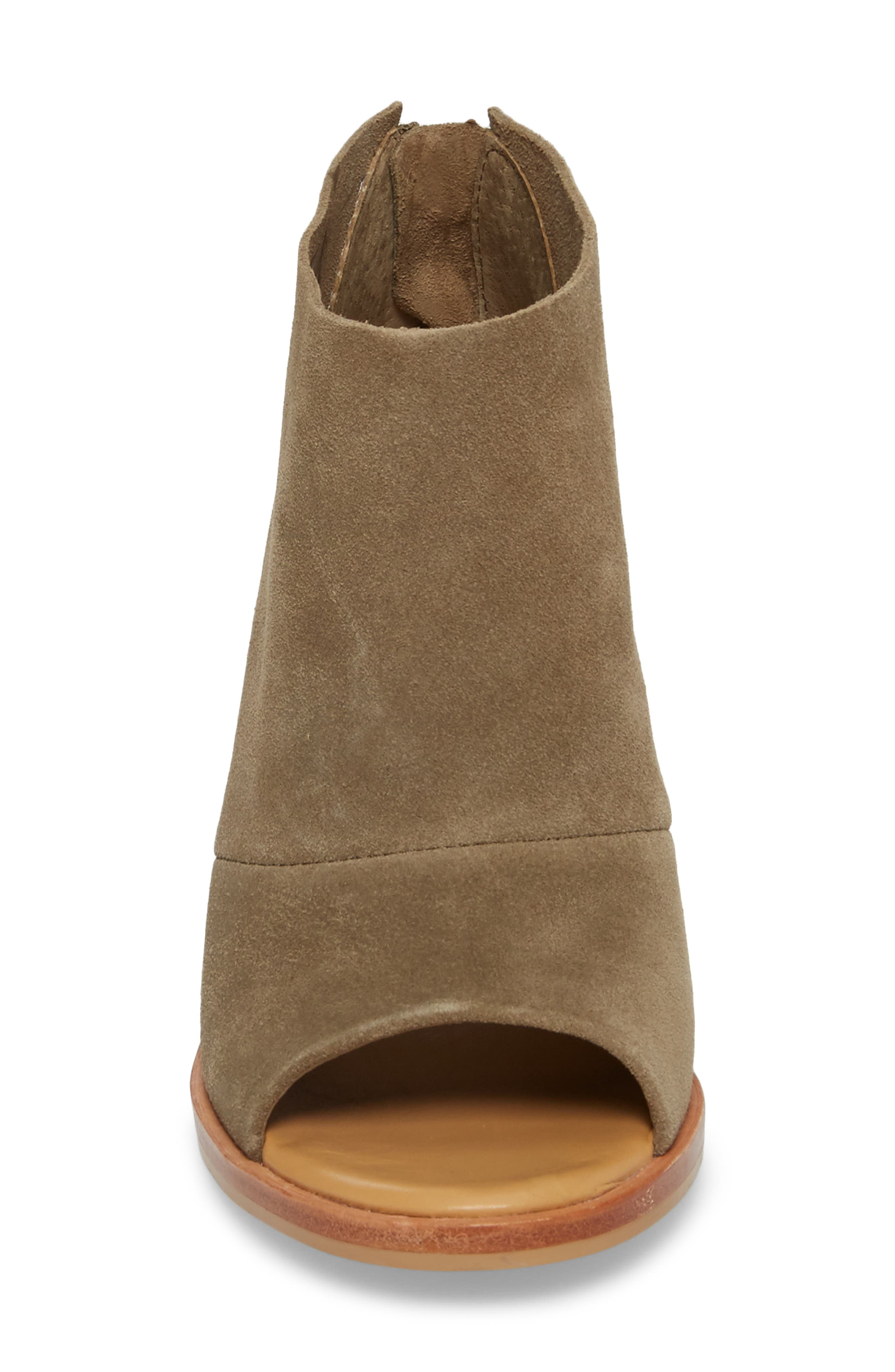 Ginger Peep Toe Bootie,                             Alternate thumbnail 4, color,                             Apple Green Suede