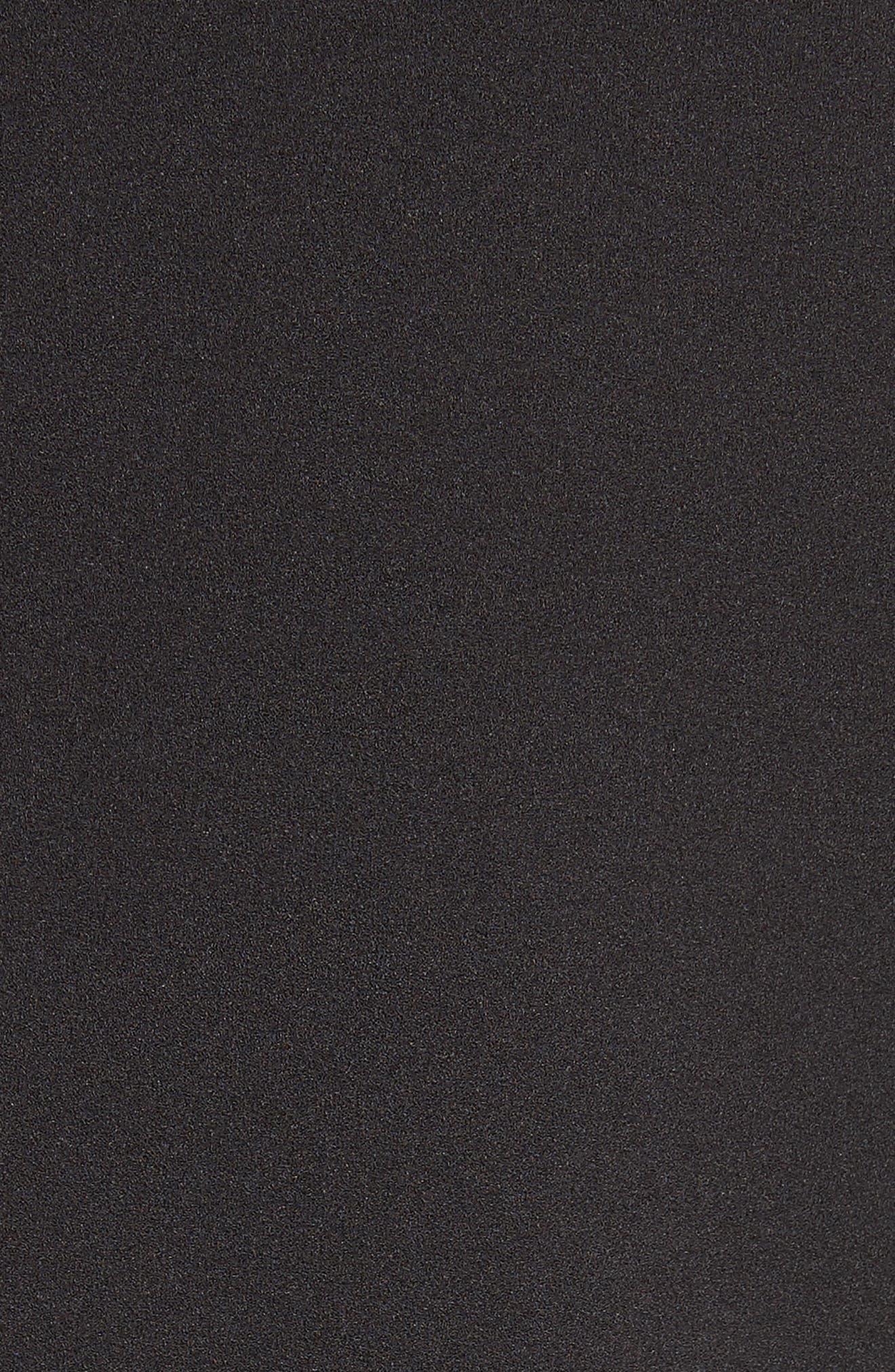 Crepe Balloon Sleeve Dress,                             Alternate thumbnail 5, color,                             Black