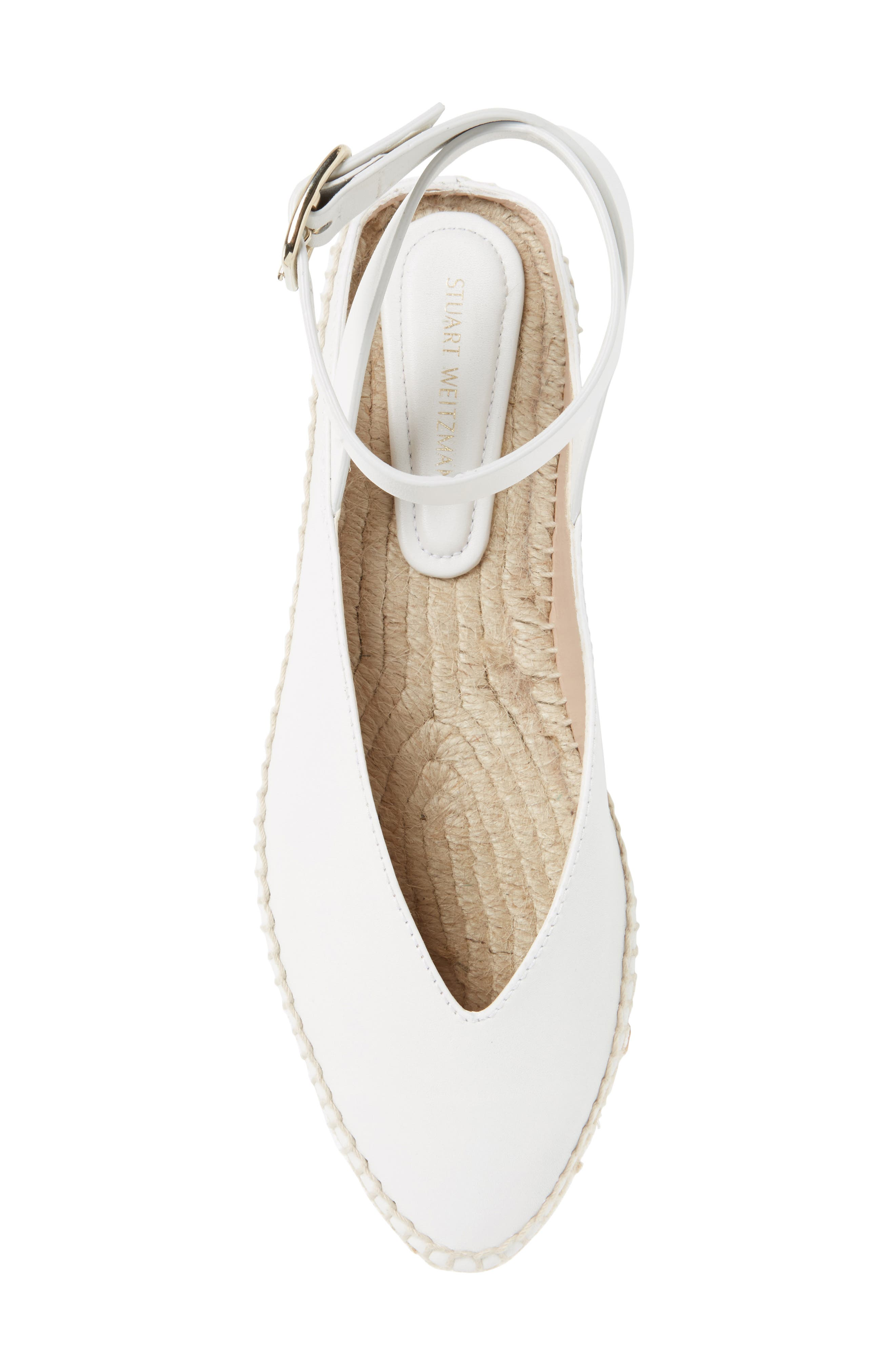 Toga Ankle Wrap Espadrille,                             Alternate thumbnail 5, color,                             Off White Arizona