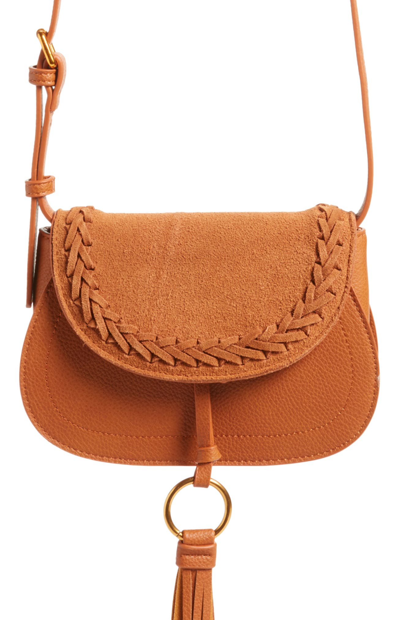 Convertible Crossbody Bag,                             Alternate thumbnail 7, color,                             Cognac