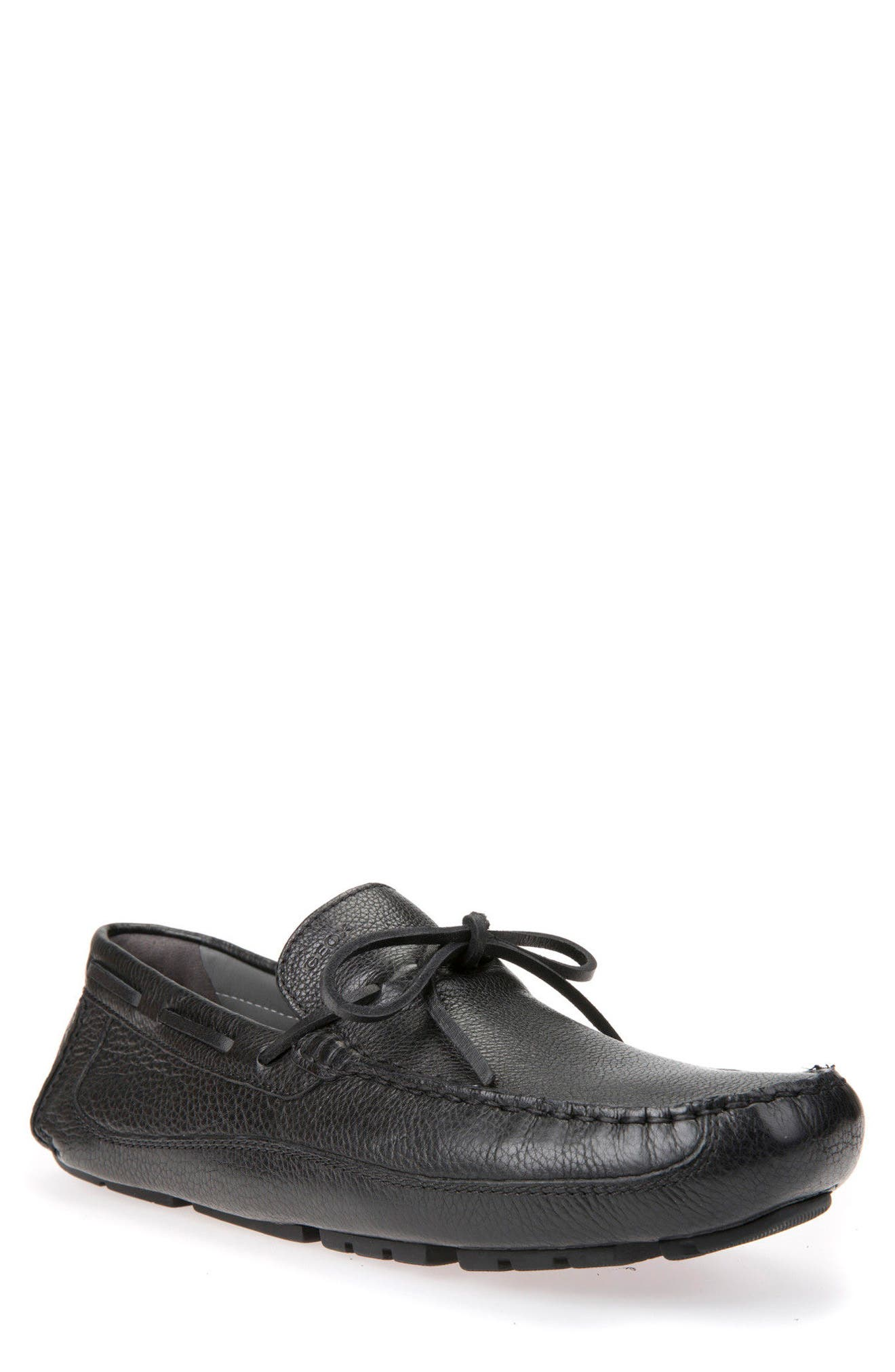 Melbourne 5 Driving Shoe,                             Main thumbnail 1, color,                             Black Leather
