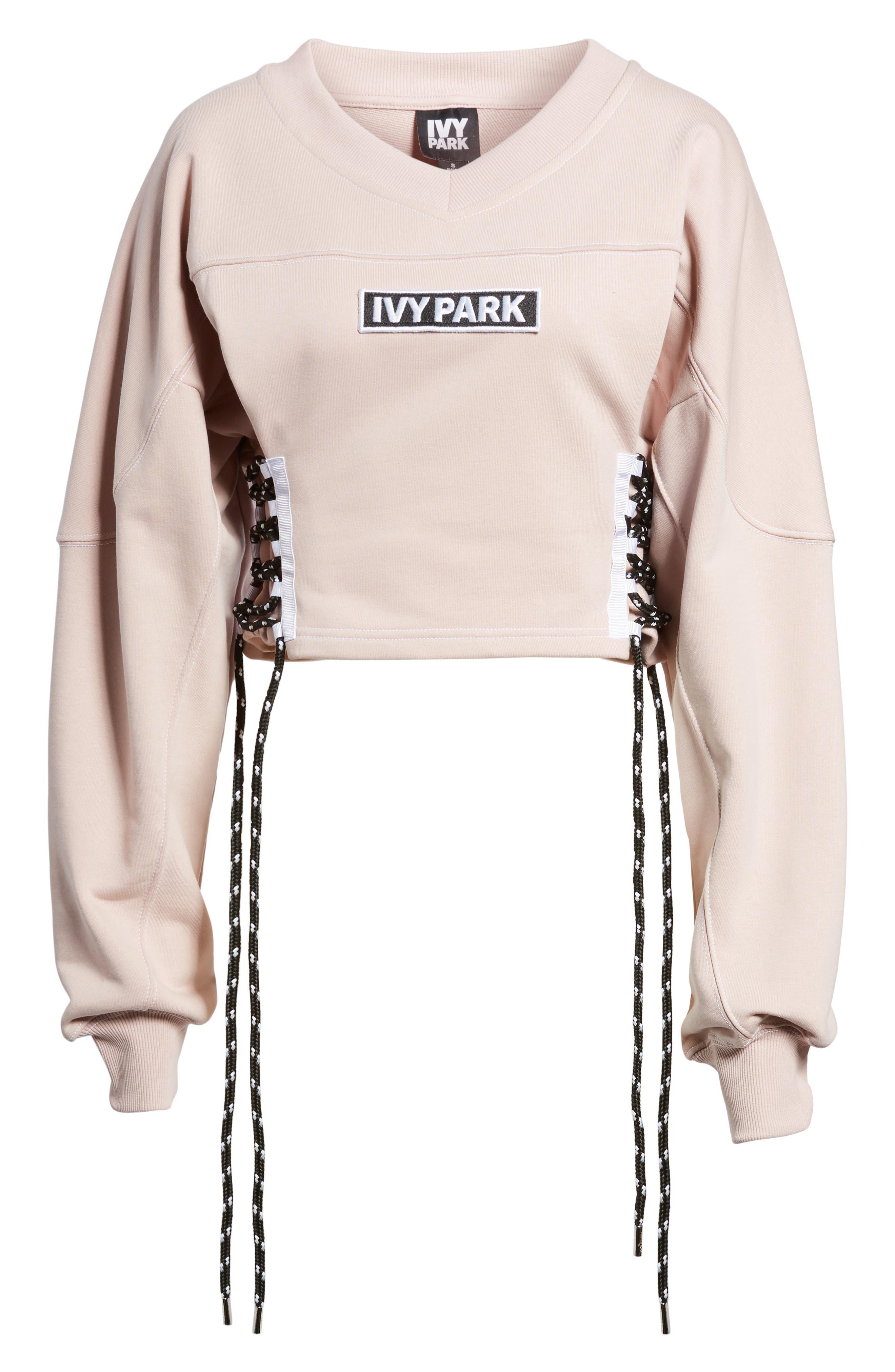 Alternate Image 9  - IVY PARK® Football Lace-Up Sweatshirt