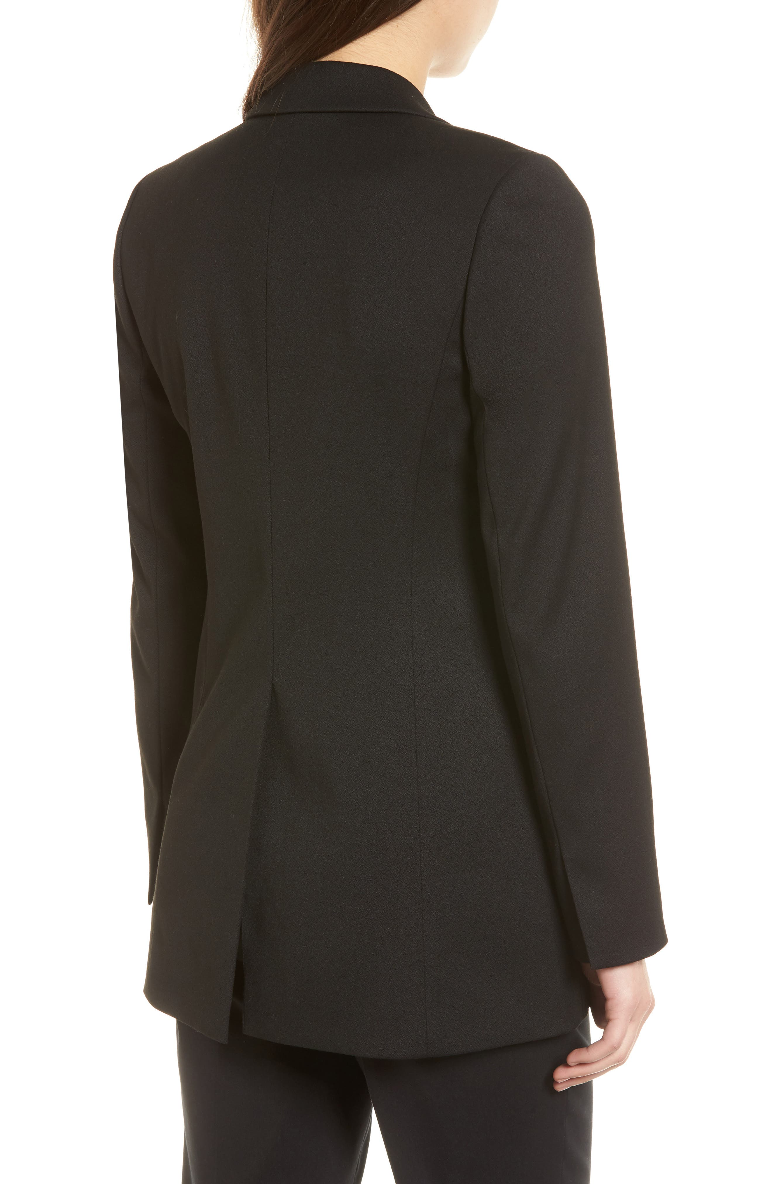 Stretch Crepe Suit Jacket,                             Alternate thumbnail 2, color,                             Black