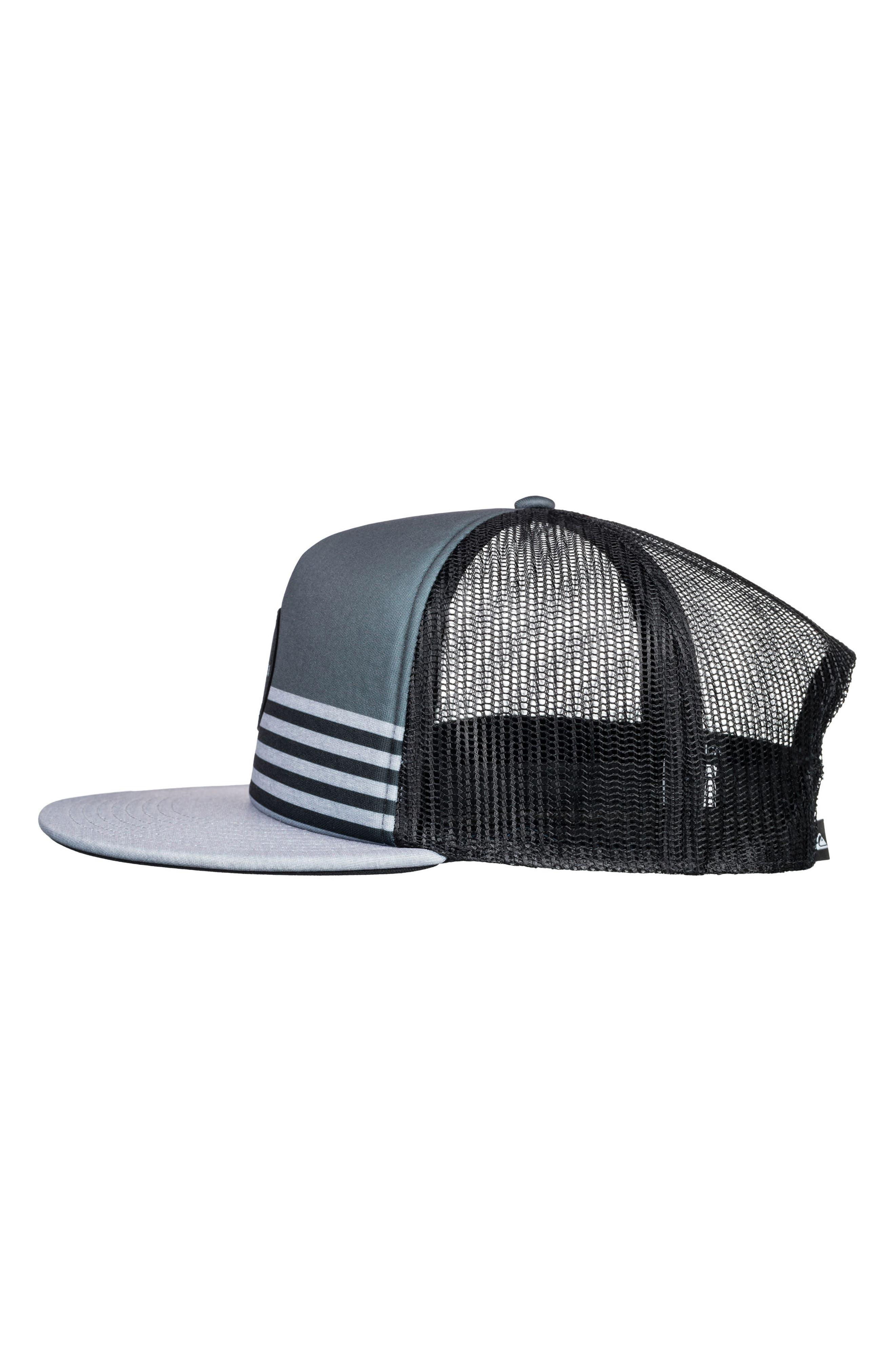 Vixten Trucker Hat,                             Alternate thumbnail 3, color,                             Iron Gate