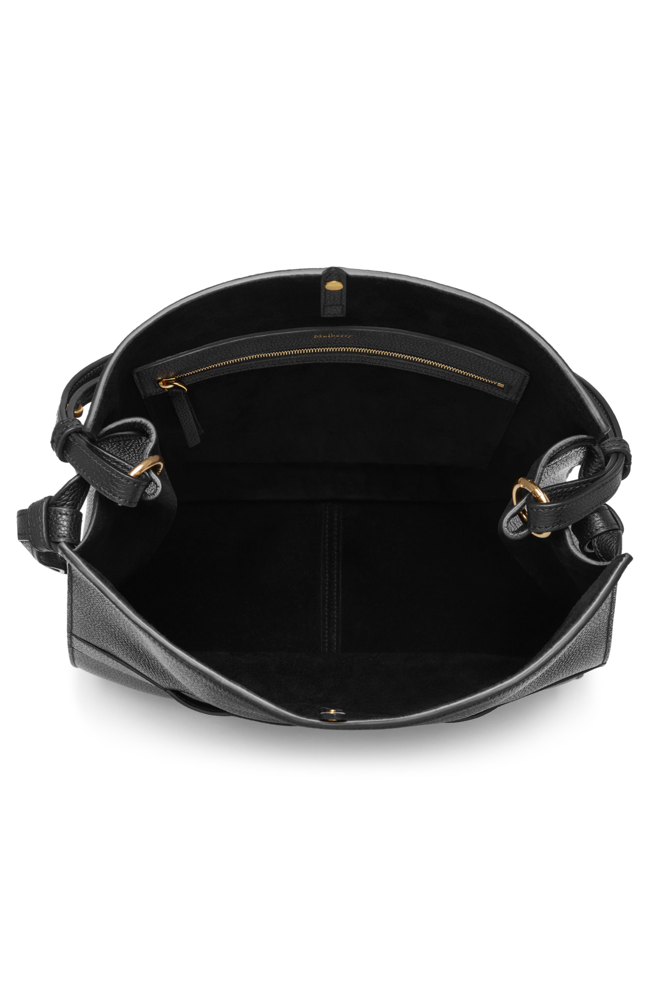 Amberley Leather Hobo,                             Alternate thumbnail 3, color,                             Black