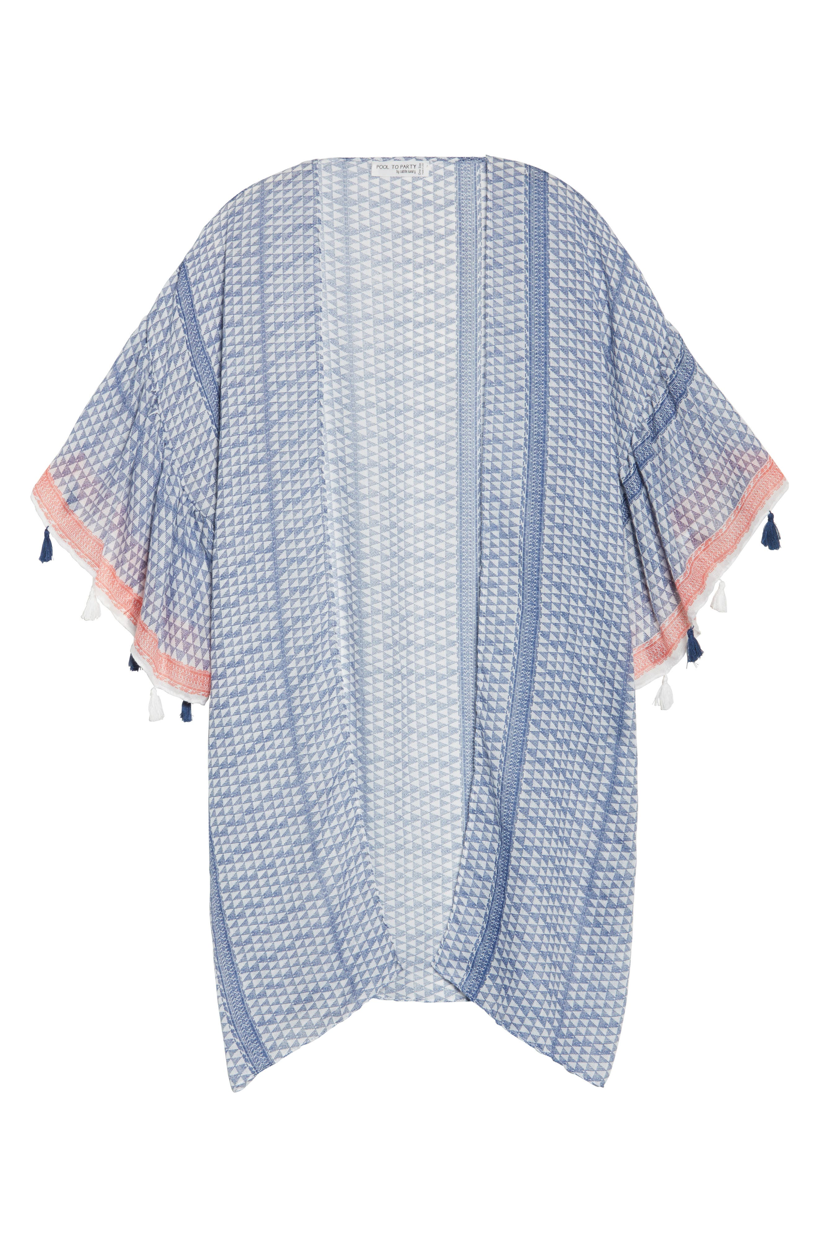 Ruffle Topper Cover-Up,                             Alternate thumbnail 6, color,                             Blu