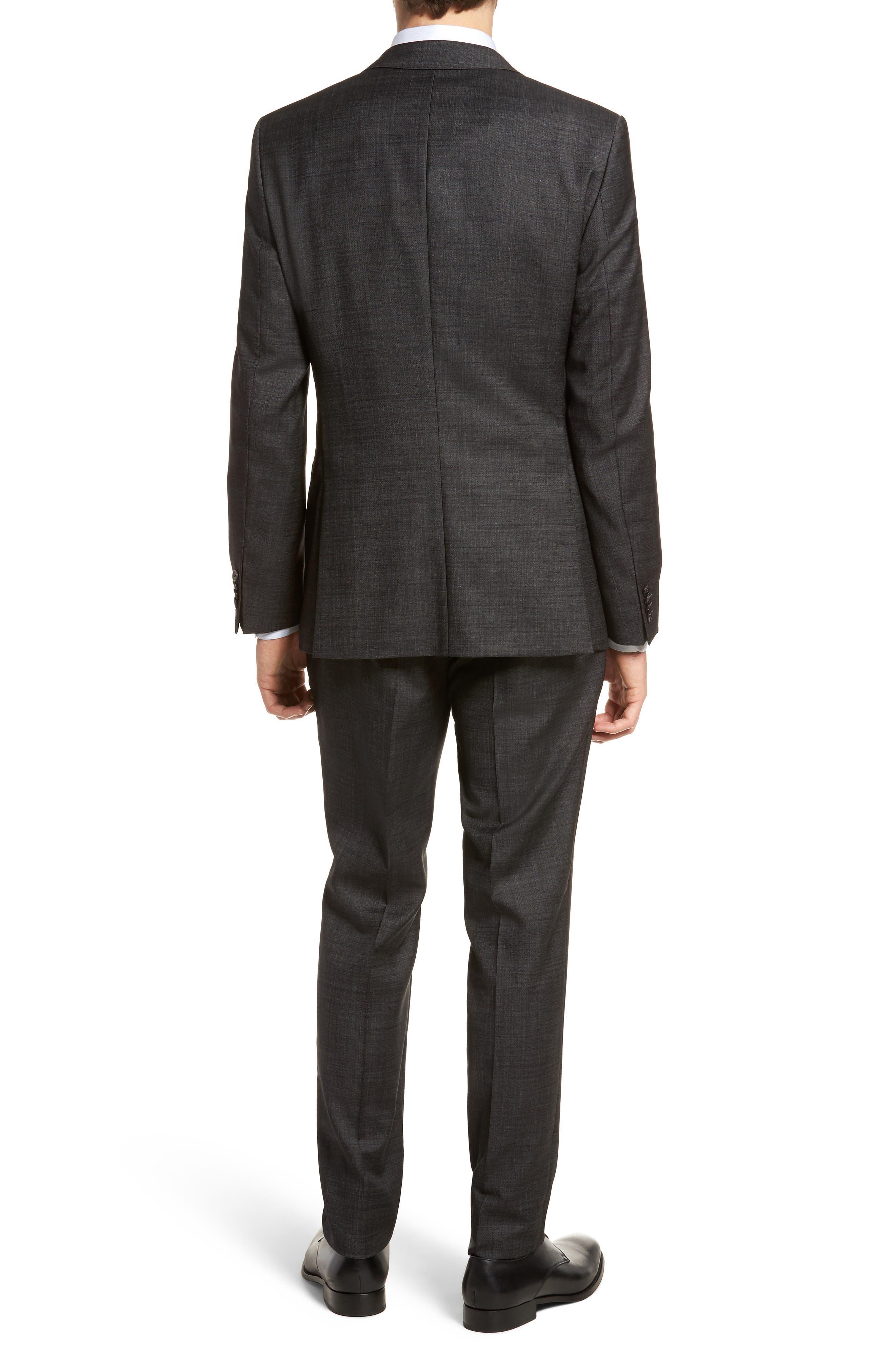 Novan/Ben Trim Fit Solid Wool Suit,                             Alternate thumbnail 2, color,                             Black