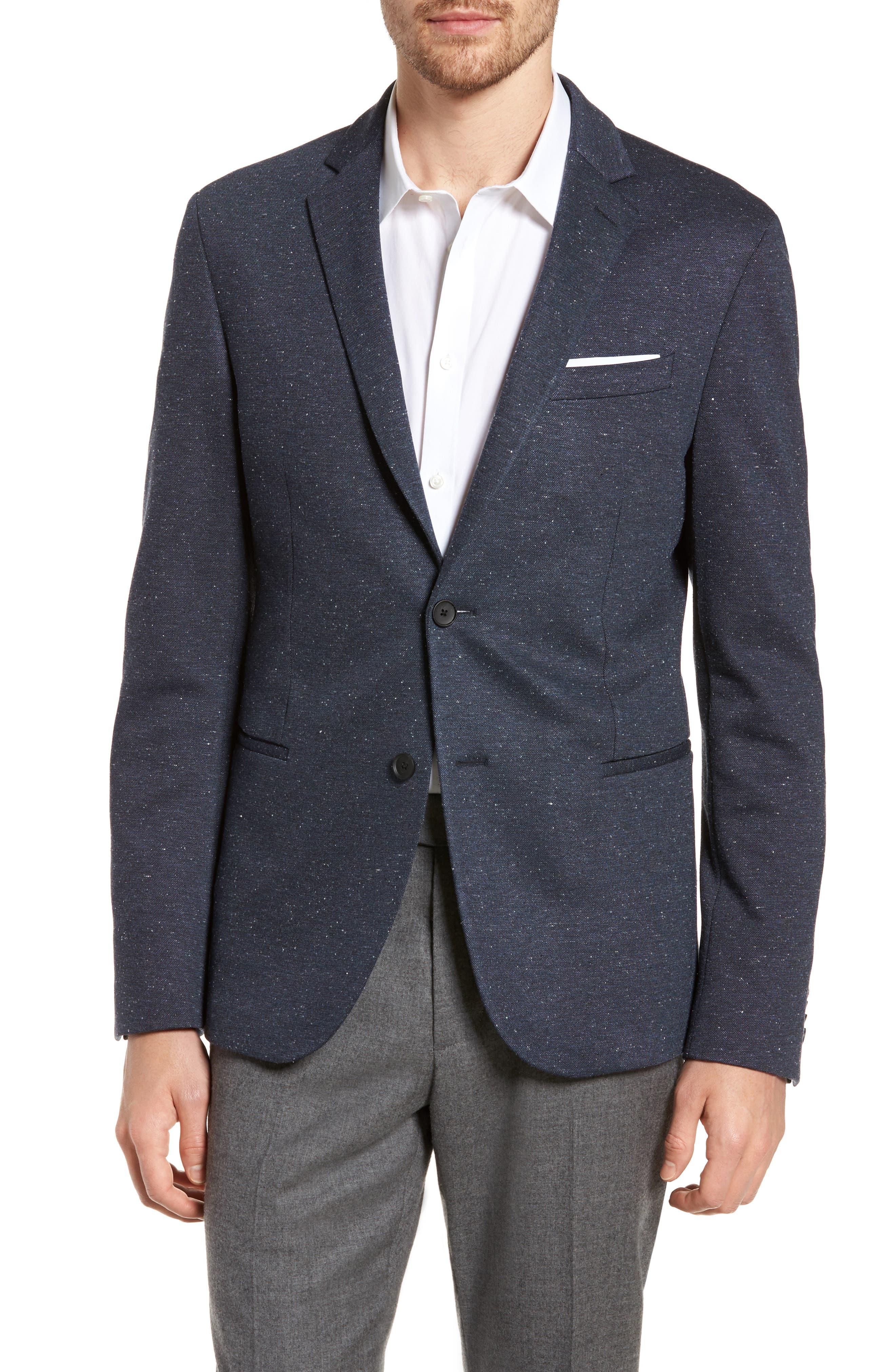 Norwin Trim Fit Stretch Blazer,                         Main,                         color, Open Blue