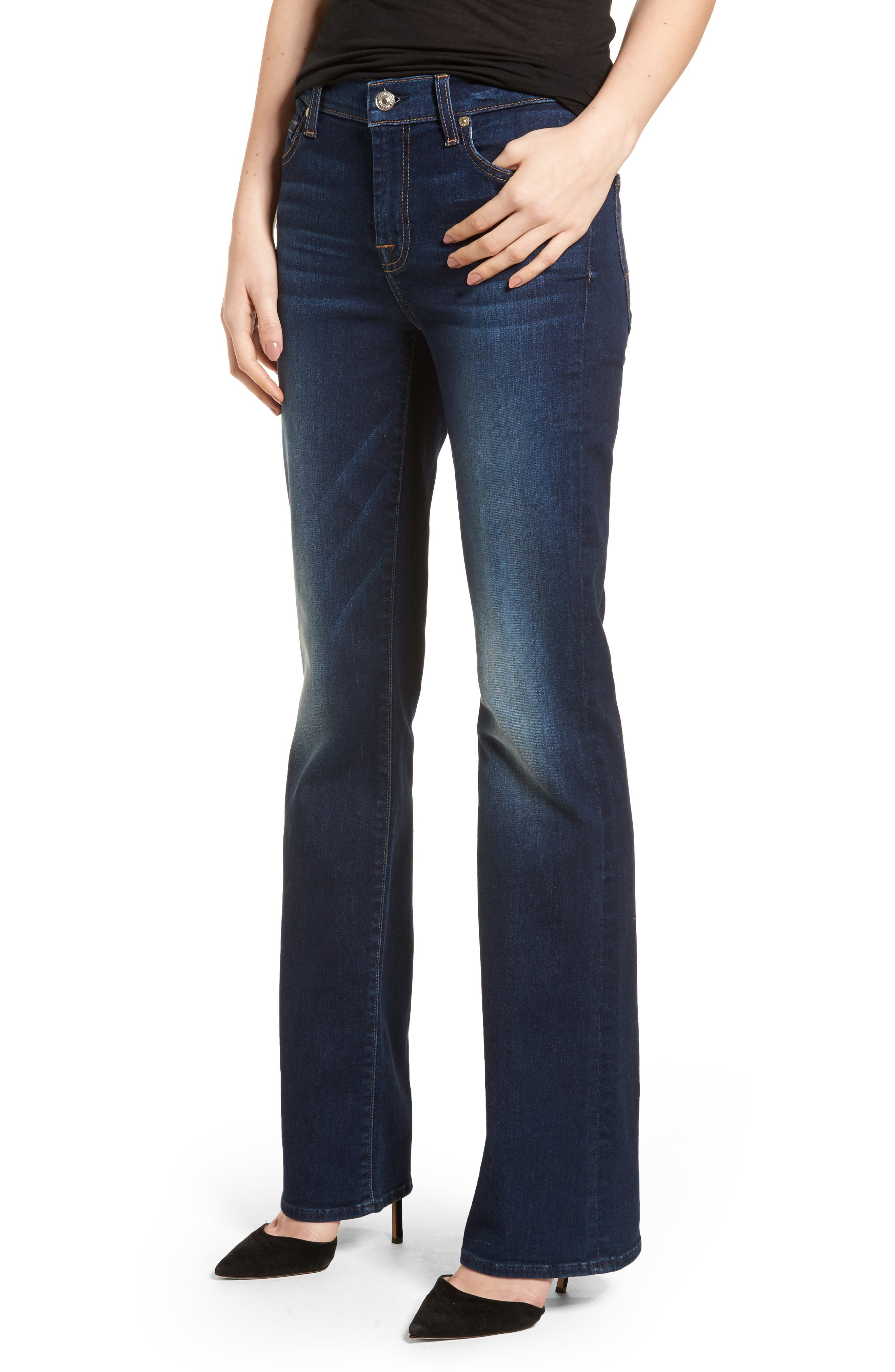 Main Image - 7 For All Mankind® Tailorless Iconic Bootcut Jeans (Moreno)