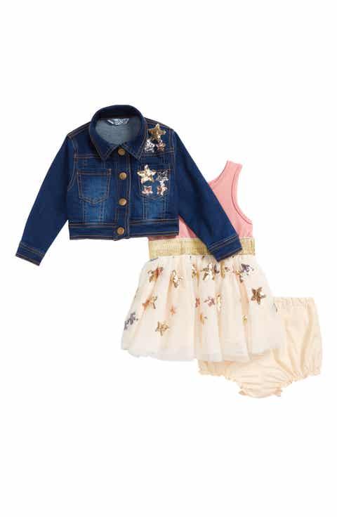 Baby clothing nordstrom pippa julie sequin star tank dress denim jacket set baby negle Gallery