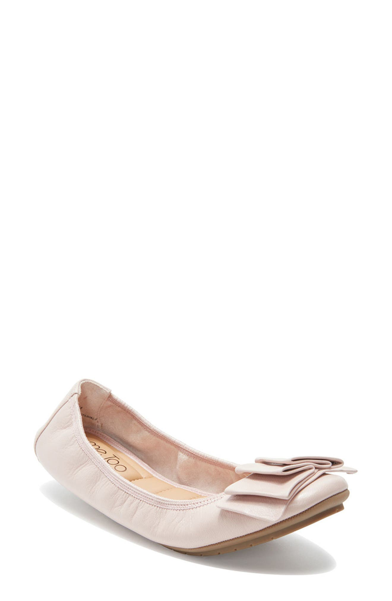 'Lilyana 2.0' Flat,                         Main,                         color, Pink Leather