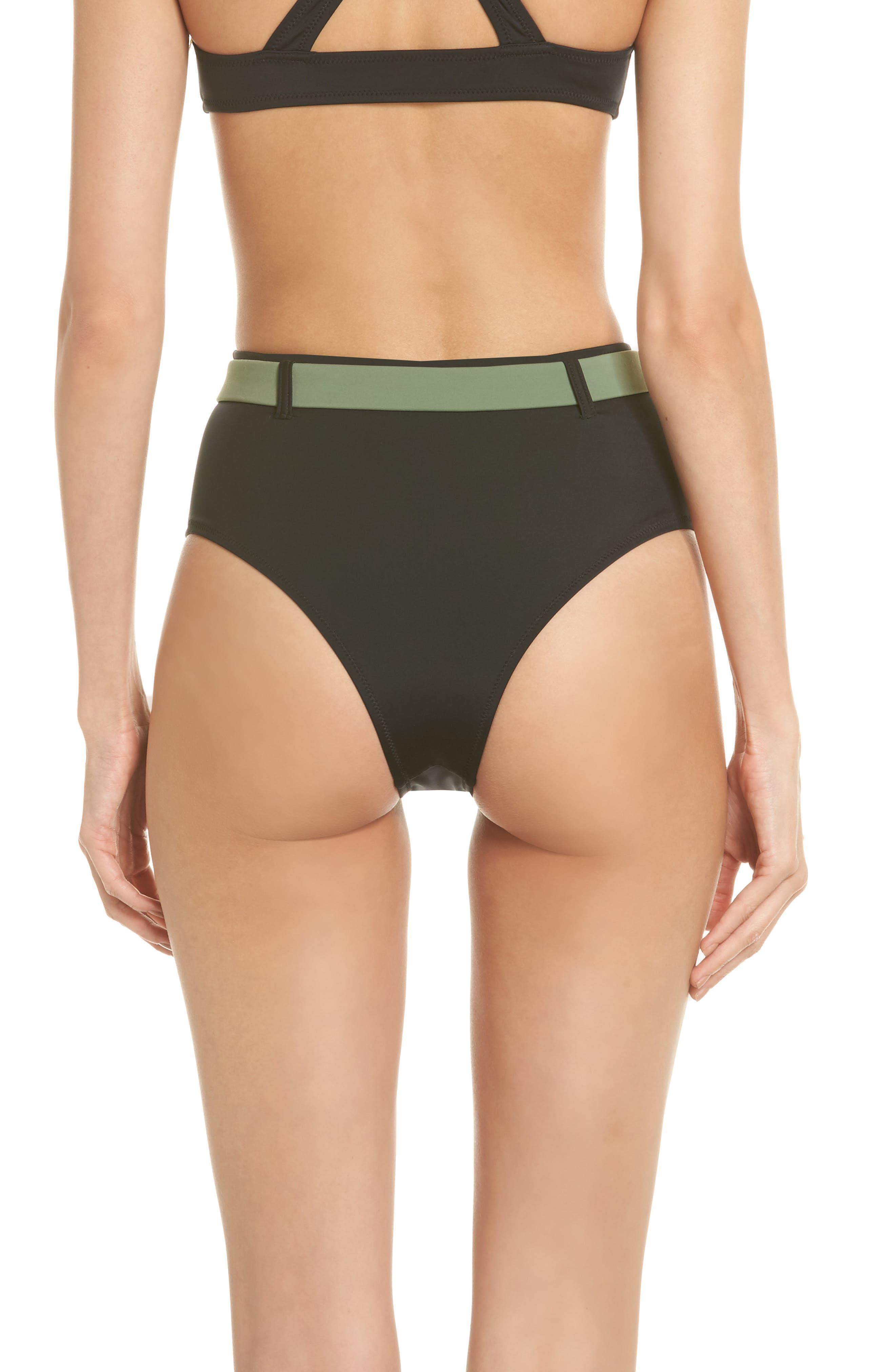 The Josephine High Waist Bikini Bottoms,                             Alternate thumbnail 2, color,                             Black