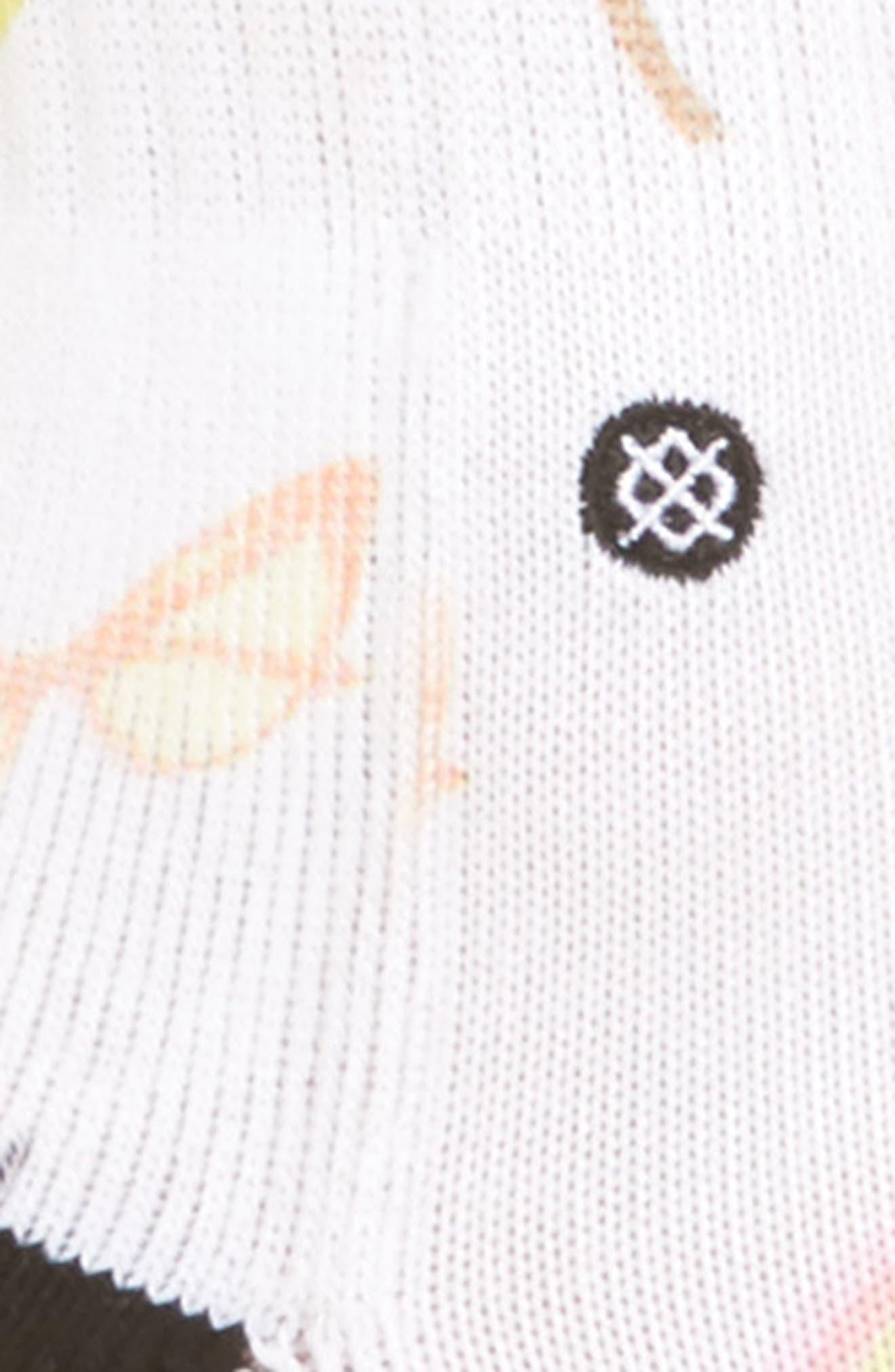 Laine Crew Socks,                             Alternate thumbnail 2, color,                             White