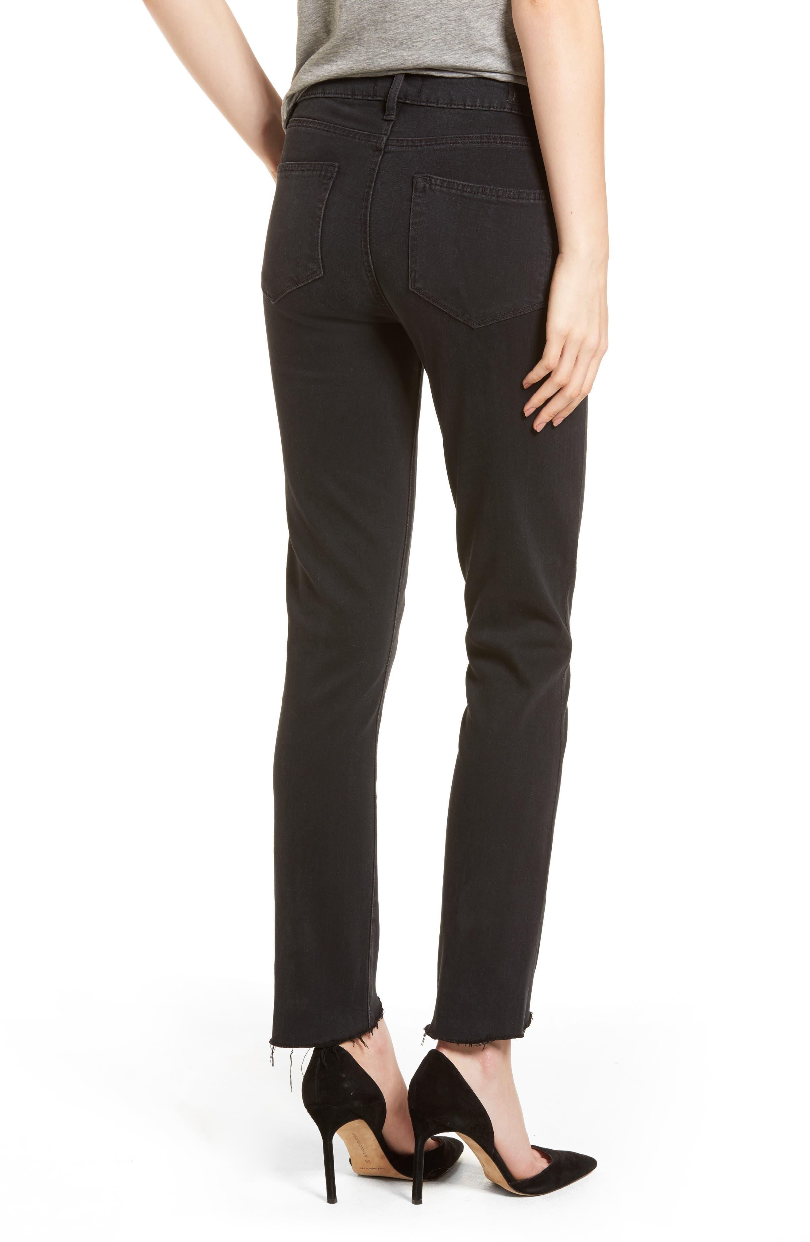 Transcend - Hoxton High Waist Ultra Skinny Jeans,                             Alternate thumbnail 2, color,                             Black Fog