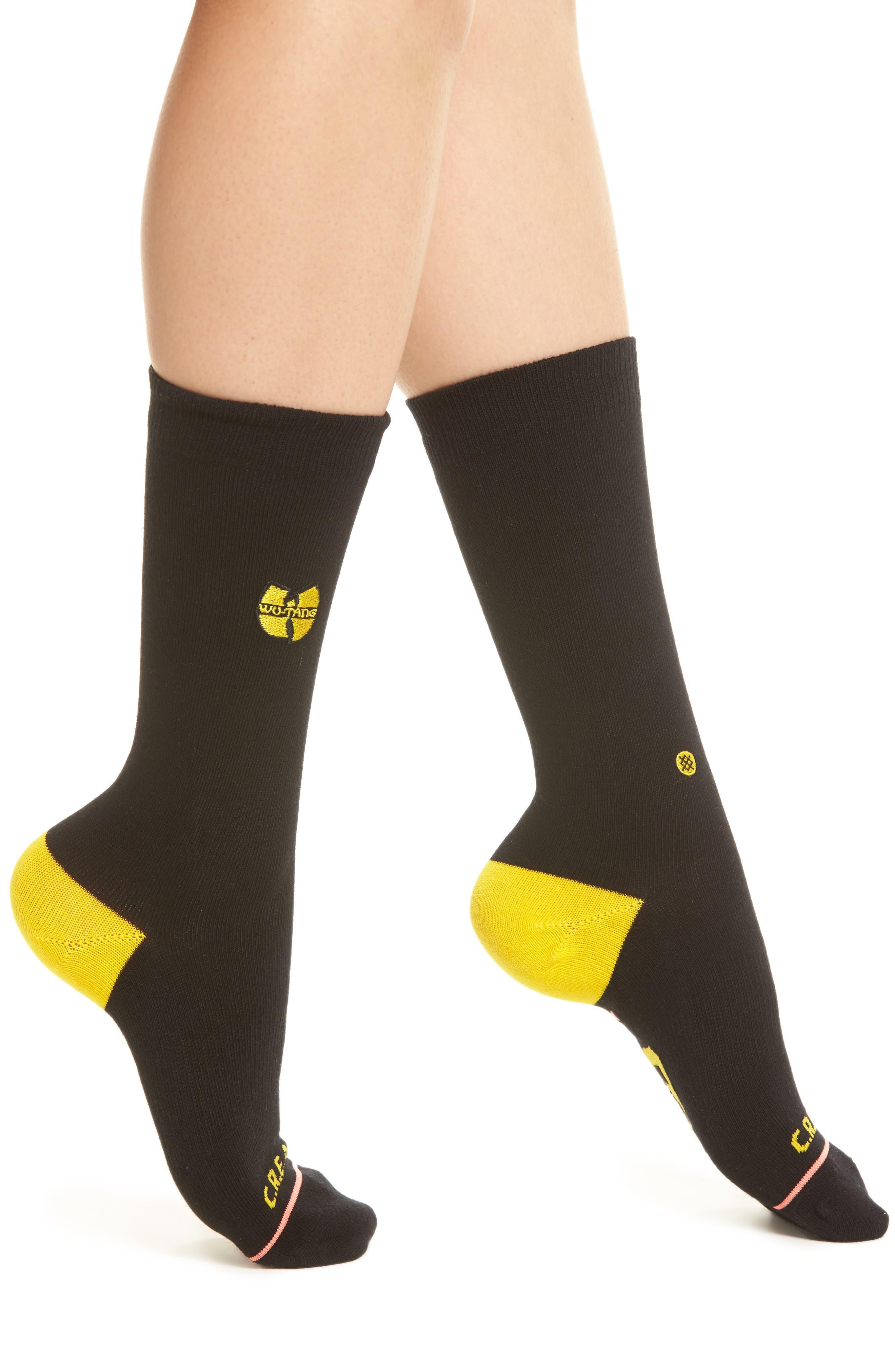 C.R.E.A.M. Crew Socks,                         Main,                         color, Black