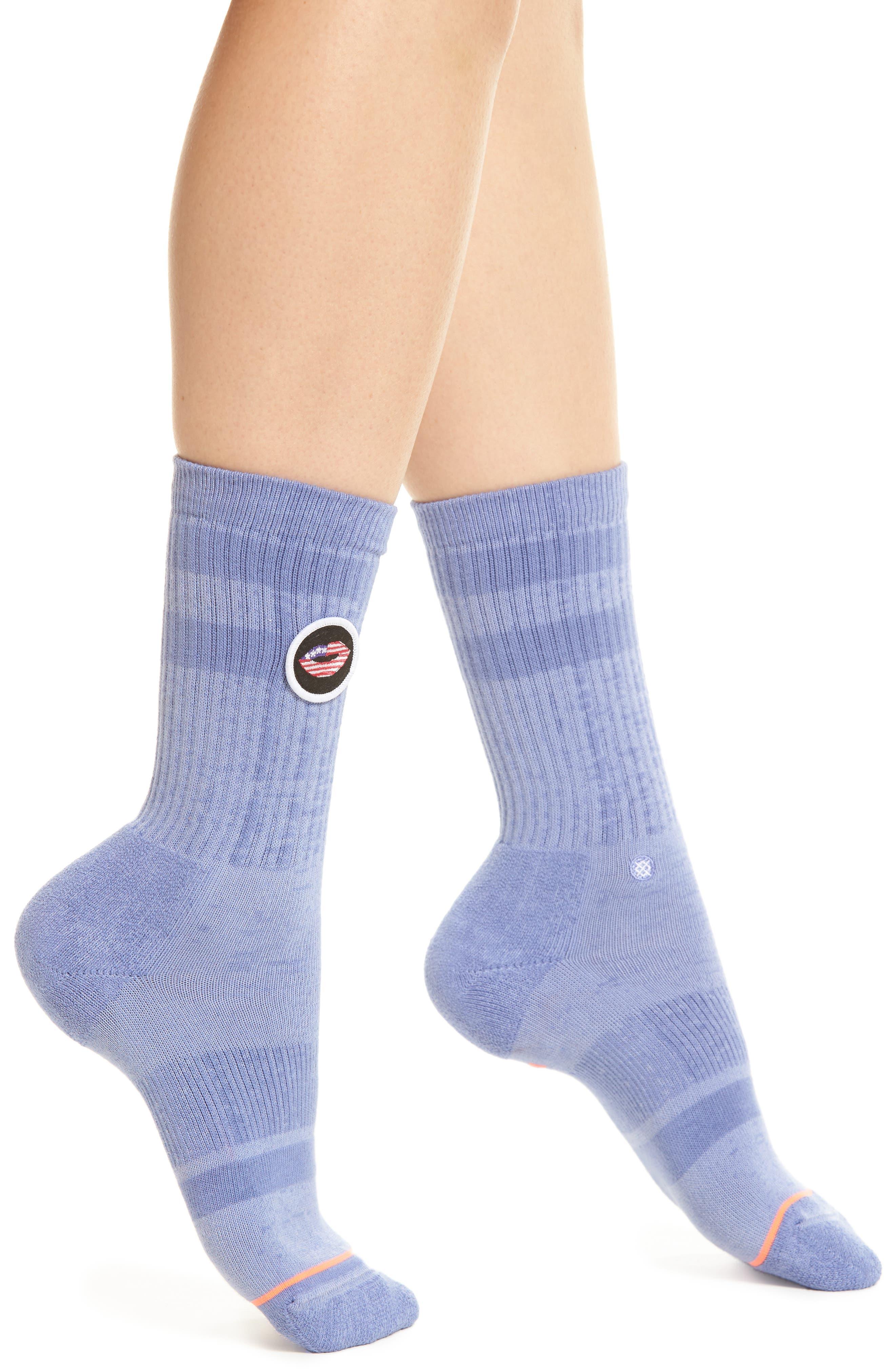 Alternate Image 1 Selected - Stance Kiss My Flag Crew Socks