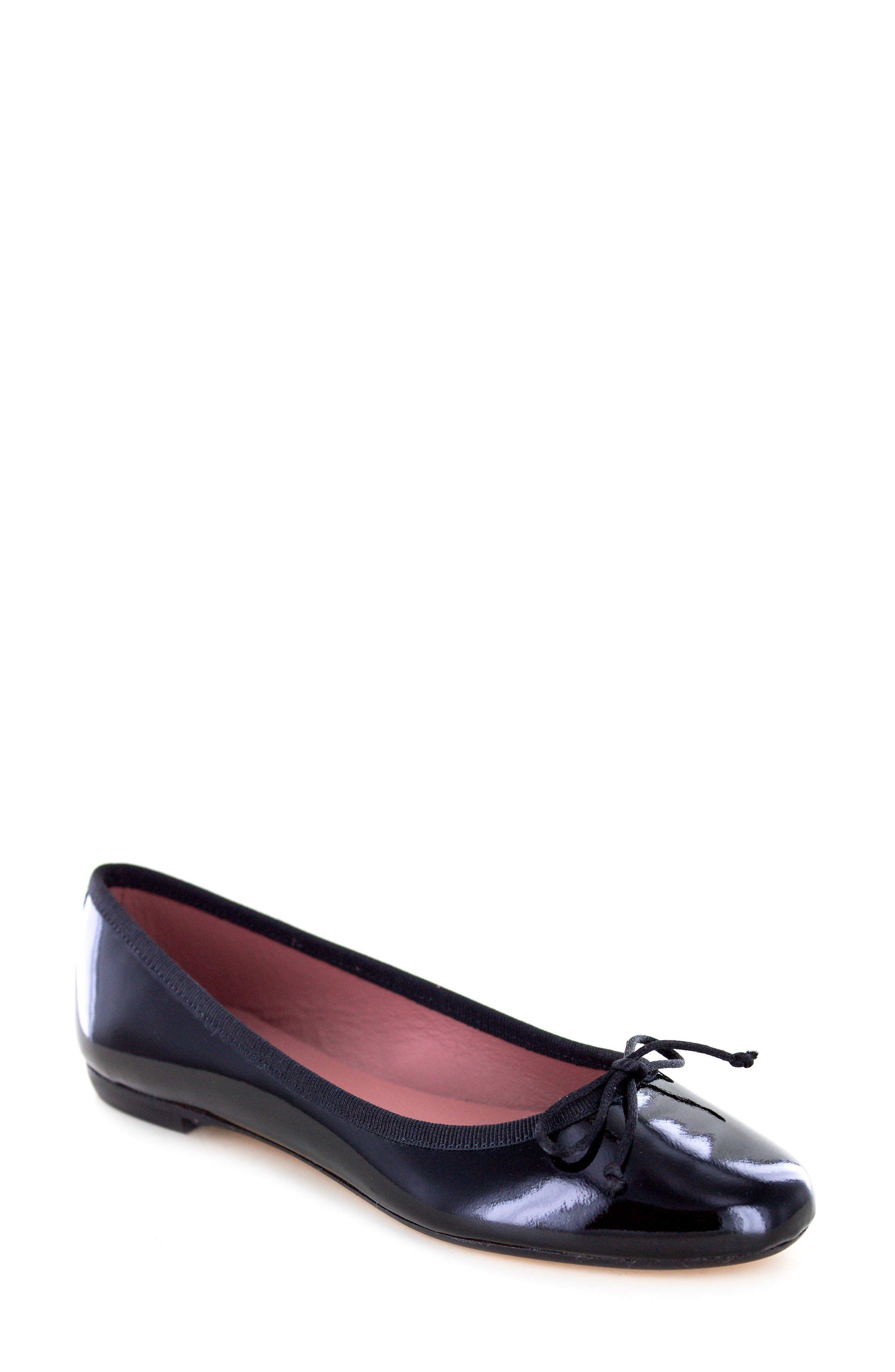 Kendrick Flat,                             Main thumbnail 1, color,                             Black Patent Leather