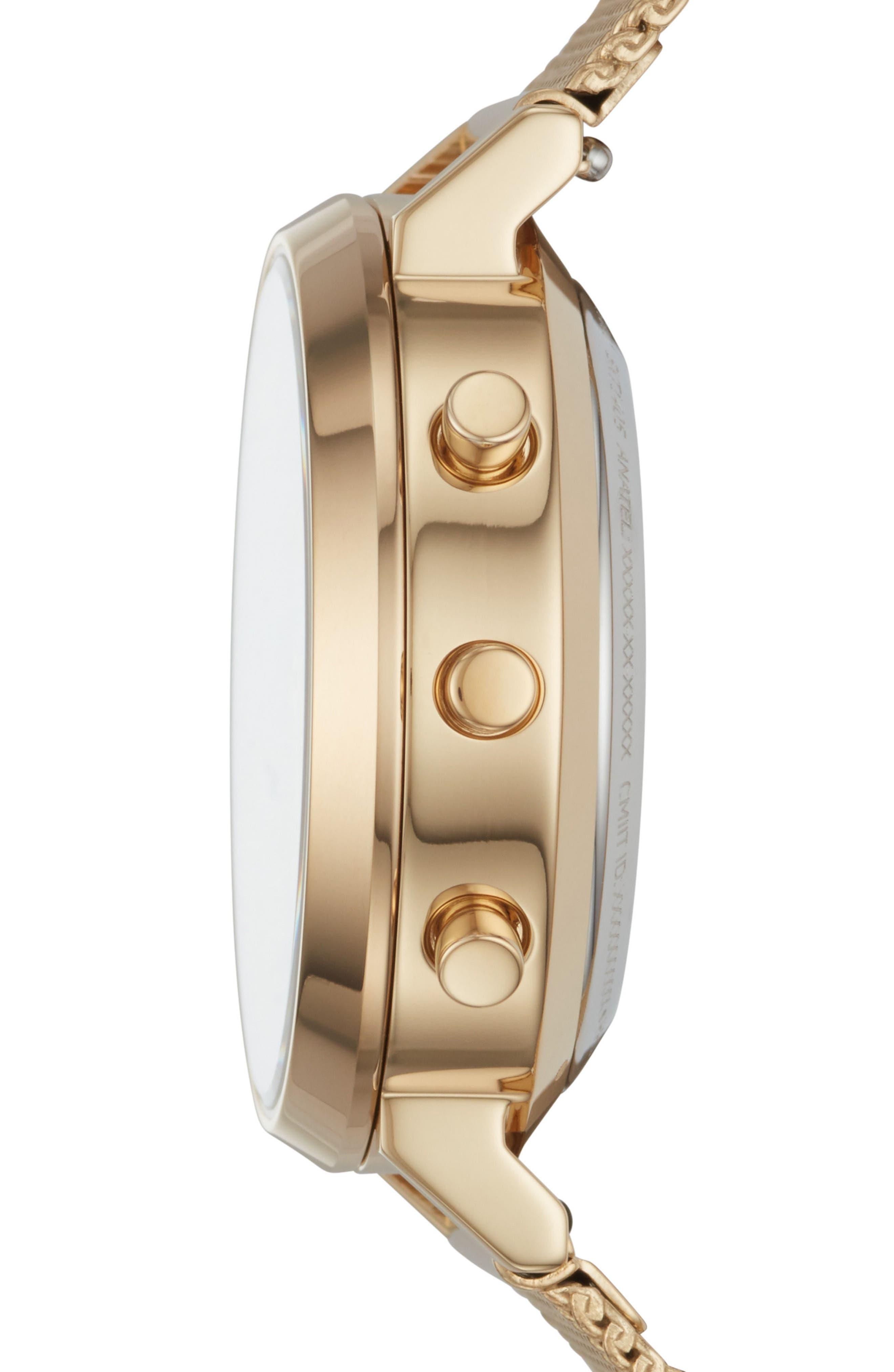 Alternate Image 3  - Skagen Hald Mesh Strap Hybrid Smart Watch, 34mm