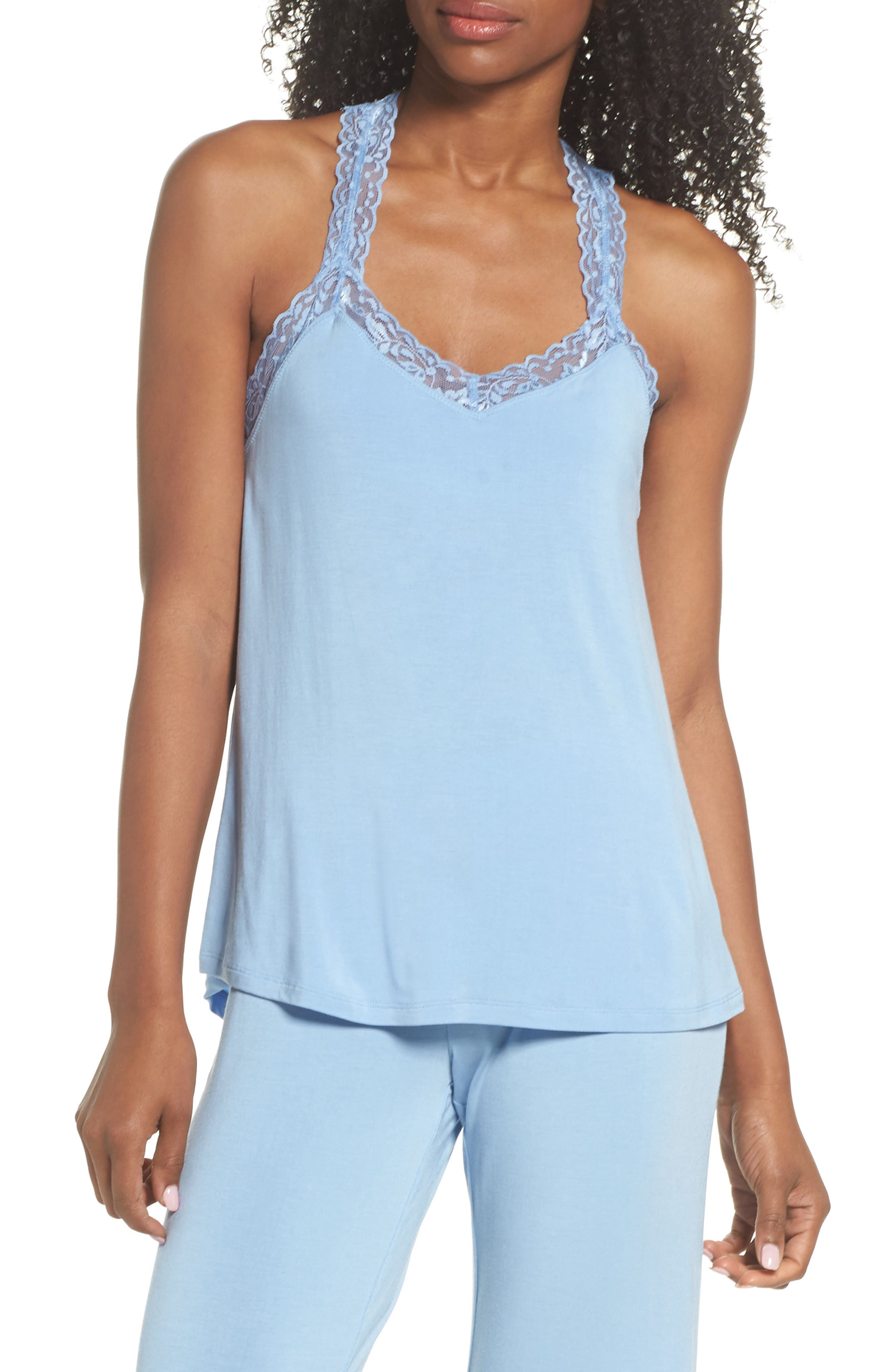 PJ Salvage Lace Trim Built-In Bra Tank